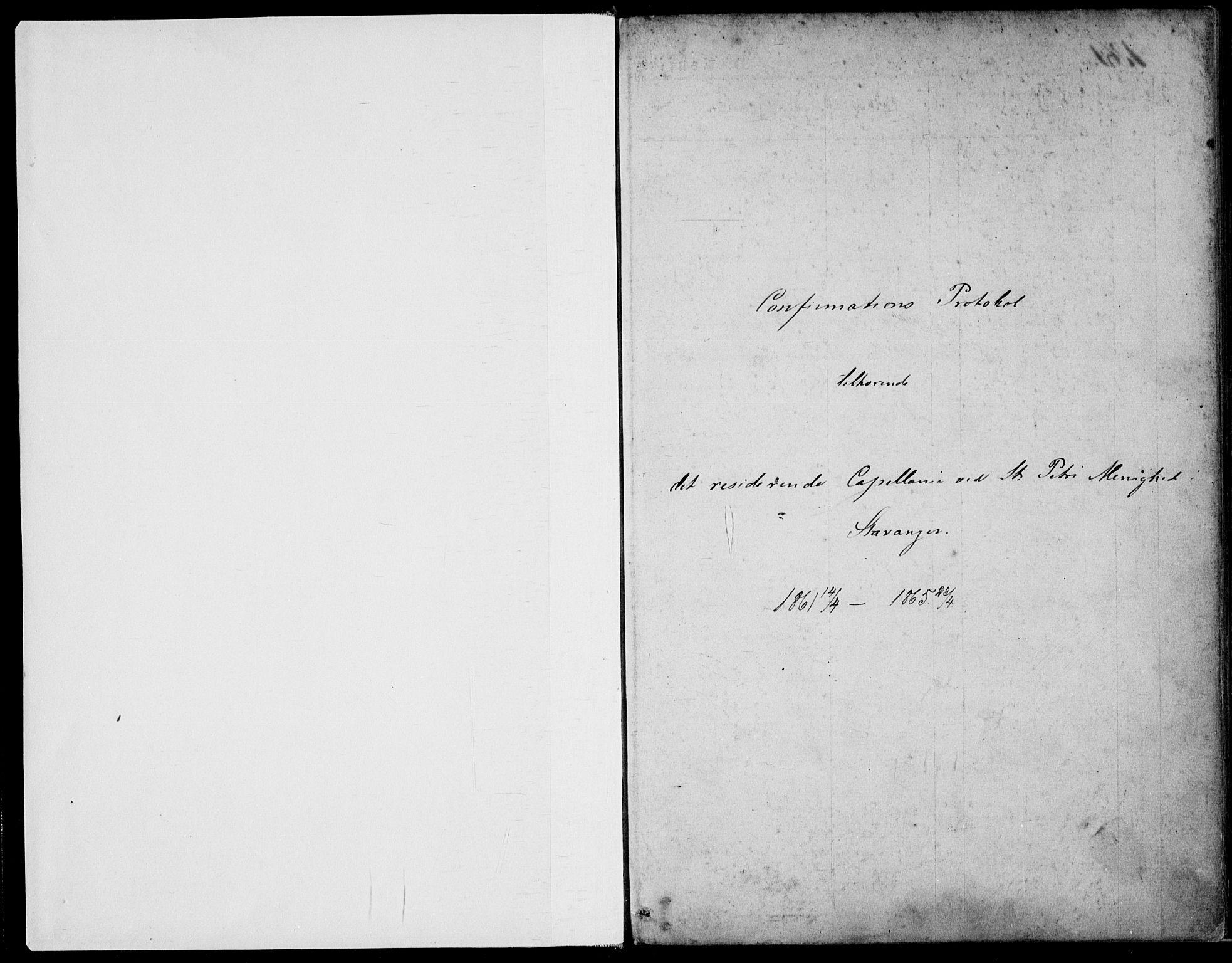 SAST, St. Petri sokneprestkontor, 30/30BA/L0004: Ministerialbok nr. A 4, 1861-1865, s. 1