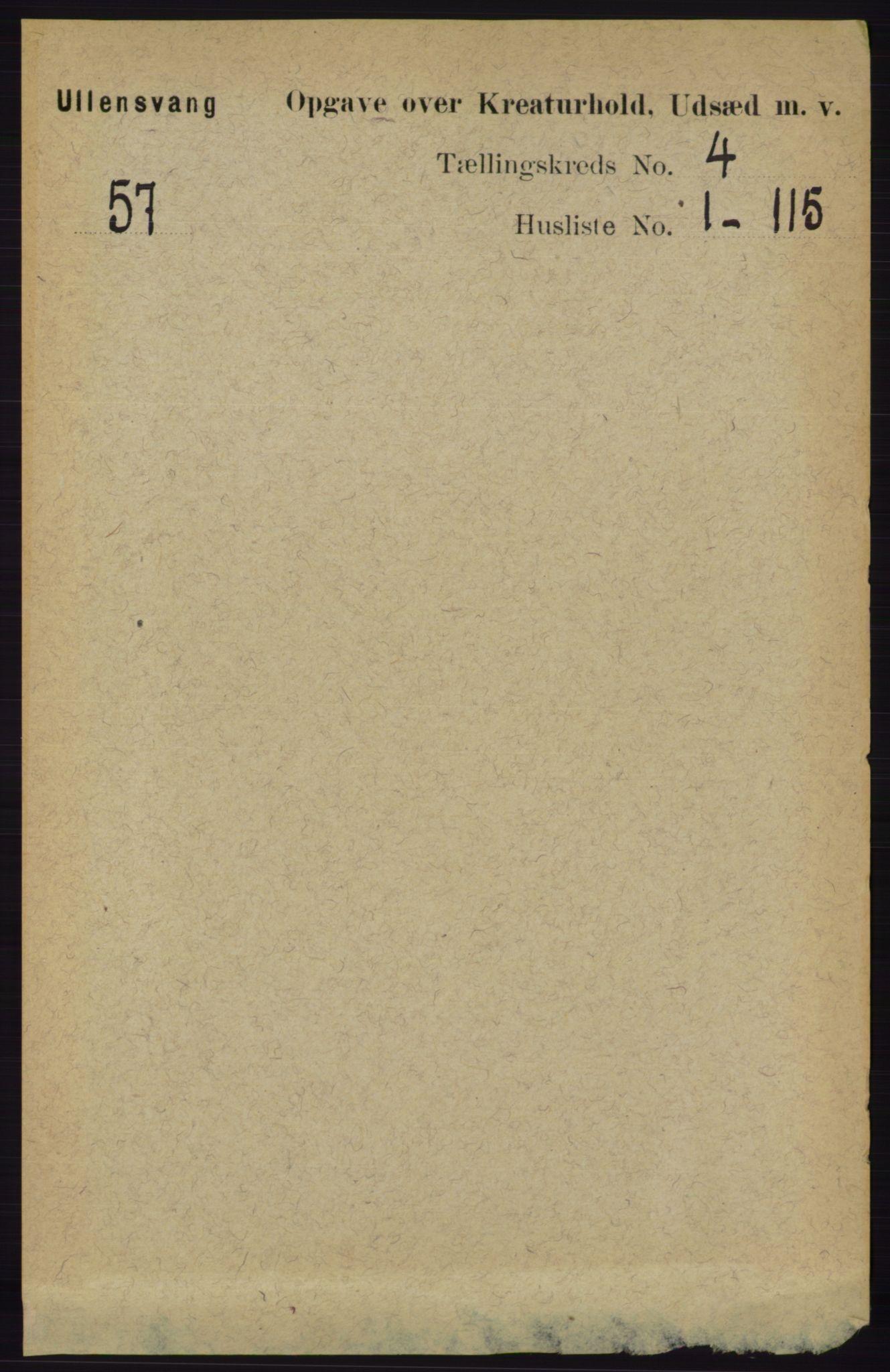 RA, Folketelling 1891 for 1230 Ullensvang herred, 1891, s. 6905