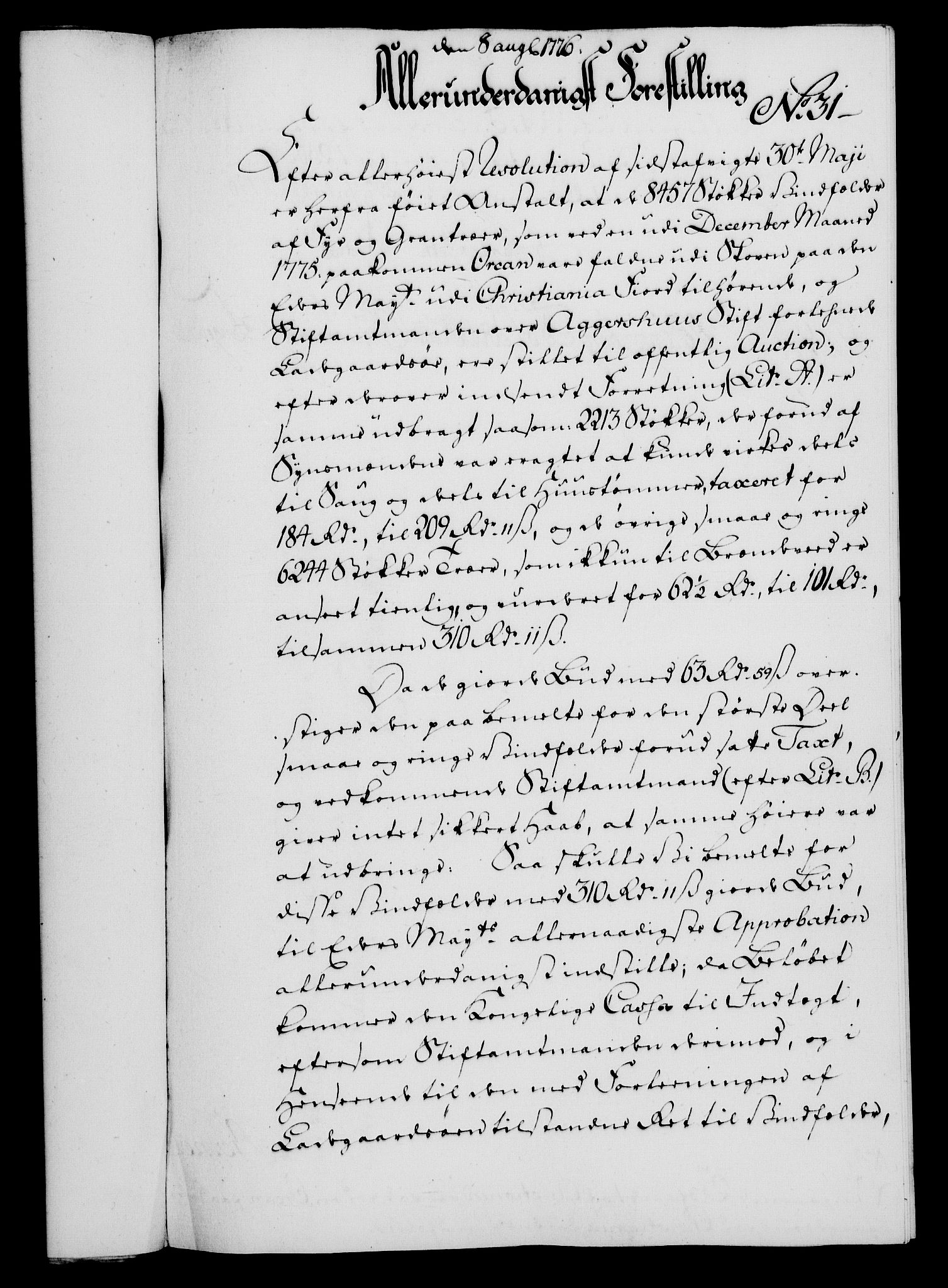 RA, Rentekammeret, Kammerkanselliet, G/Gf/Gfa/L0058: Norsk relasjons- og resolusjonsprotokoll (merket RK 52.58), 1776, s. 130