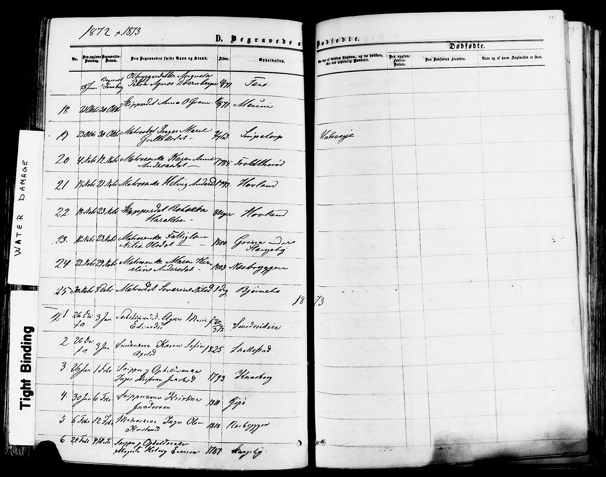 SAKO, Nøtterøy kirkebøker, F/Fa/L0007: Ministerialbok nr. I 7, 1865-1877, s. 338