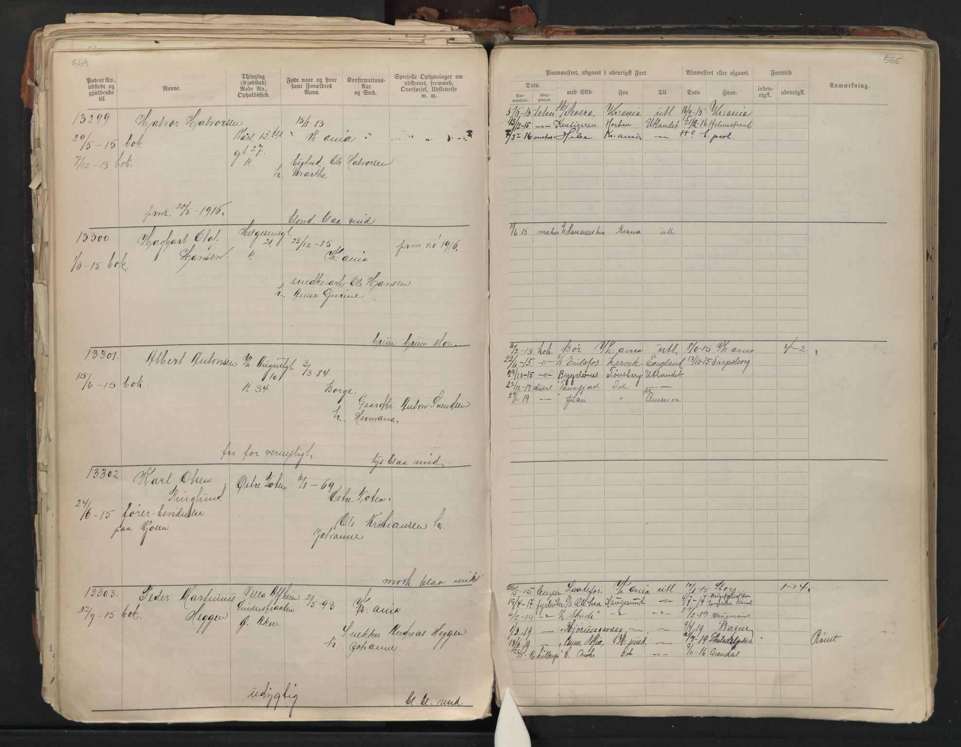 SAO, Oslo sjømannskontor, F/Fb/L0001: Annotasjonsrulle, 1908-1938, s. 564-565