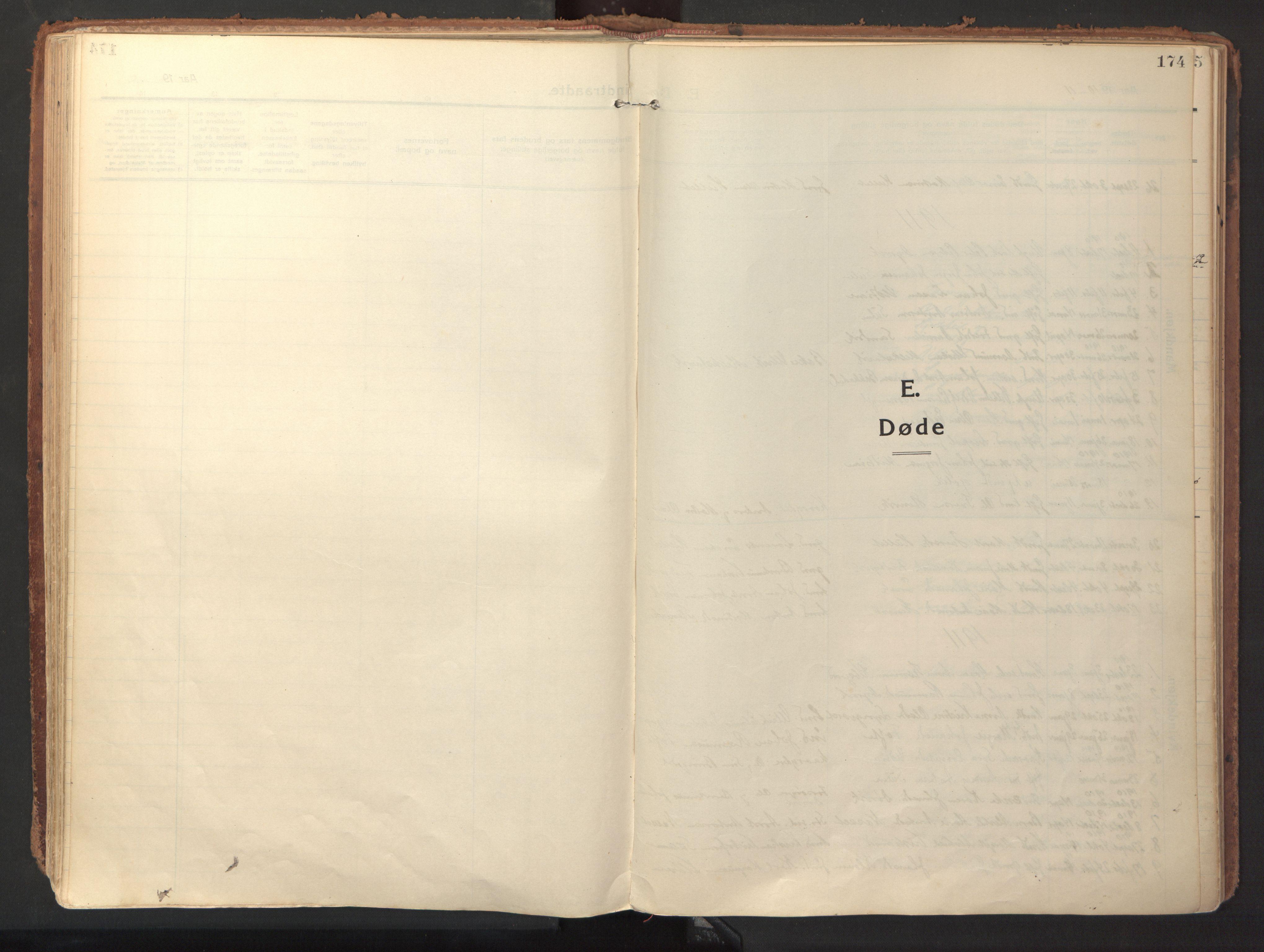 SAT, Ministerialprotokoller, klokkerbøker og fødselsregistre - Sør-Trøndelag, 640/L0581: Ministerialbok nr. 640A06, 1910-1924, s. 174