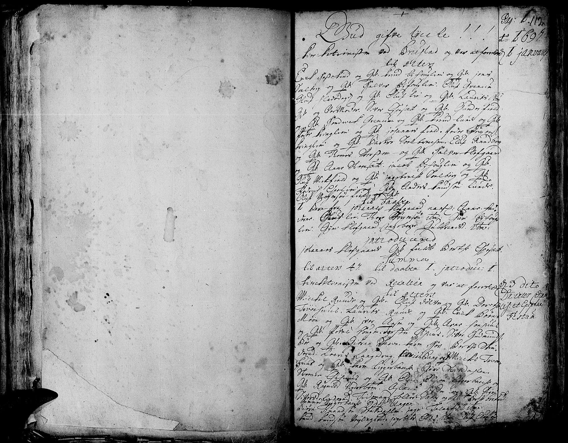 SAH, Aurdal prestekontor, Ministerialbok nr. 1-3, 1692-1730, s. 112