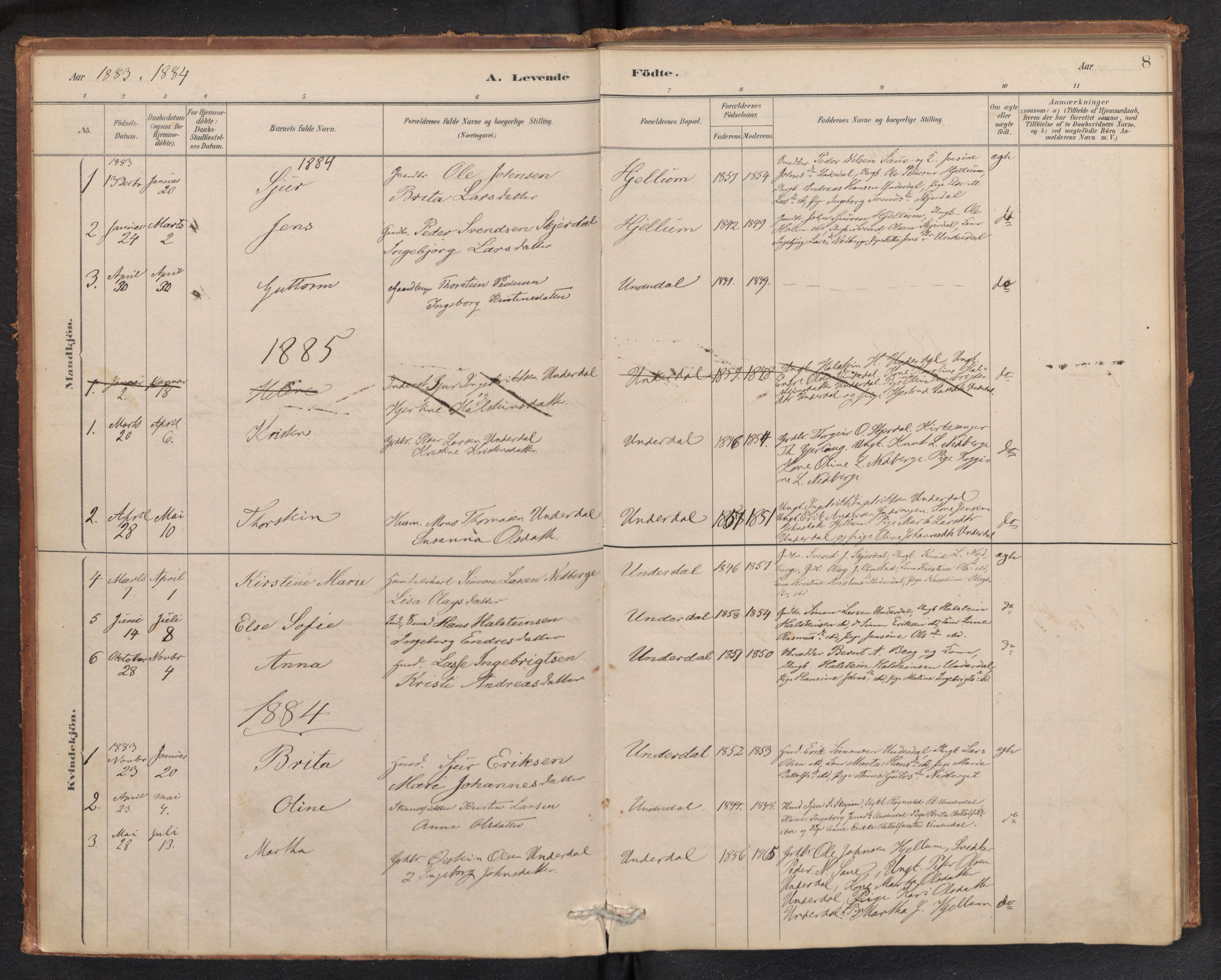 SAB, Aurland Sokneprestembete*, Ministerialbok nr. E 1, 1880-1907, s. 7b-8a