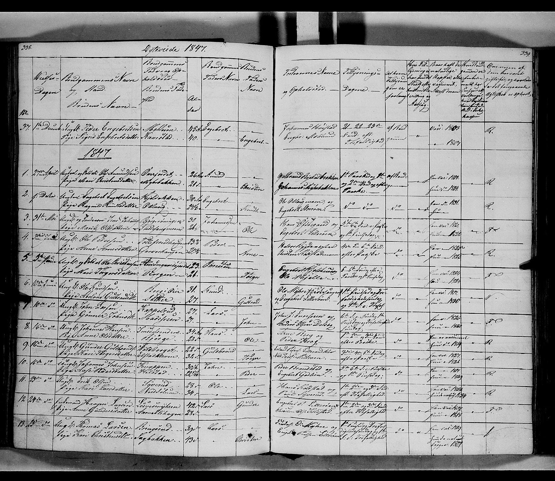 SAH, Ringebu prestekontor, Ministerialbok nr. 5, 1839-1848, s. 338-339