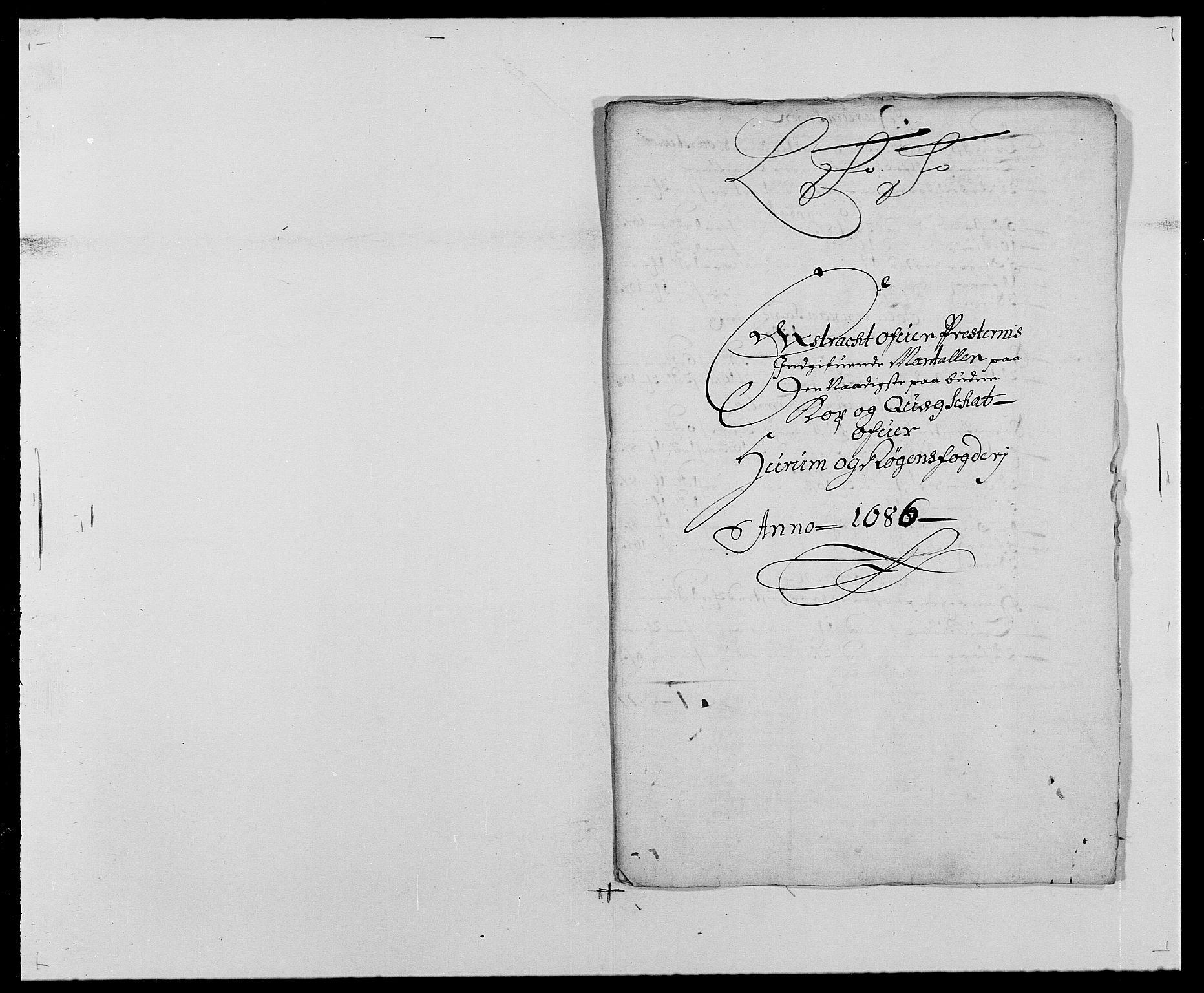 RA, Rentekammeret inntil 1814, Reviderte regnskaper, Fogderegnskap, R29/L1692: Fogderegnskap Hurum og Røyken, 1682-1687, s. 297