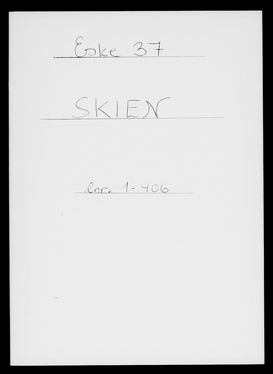 SAKO, Folketelling 1885 for 0806 Skien kjøpstad, 1885, s. 1