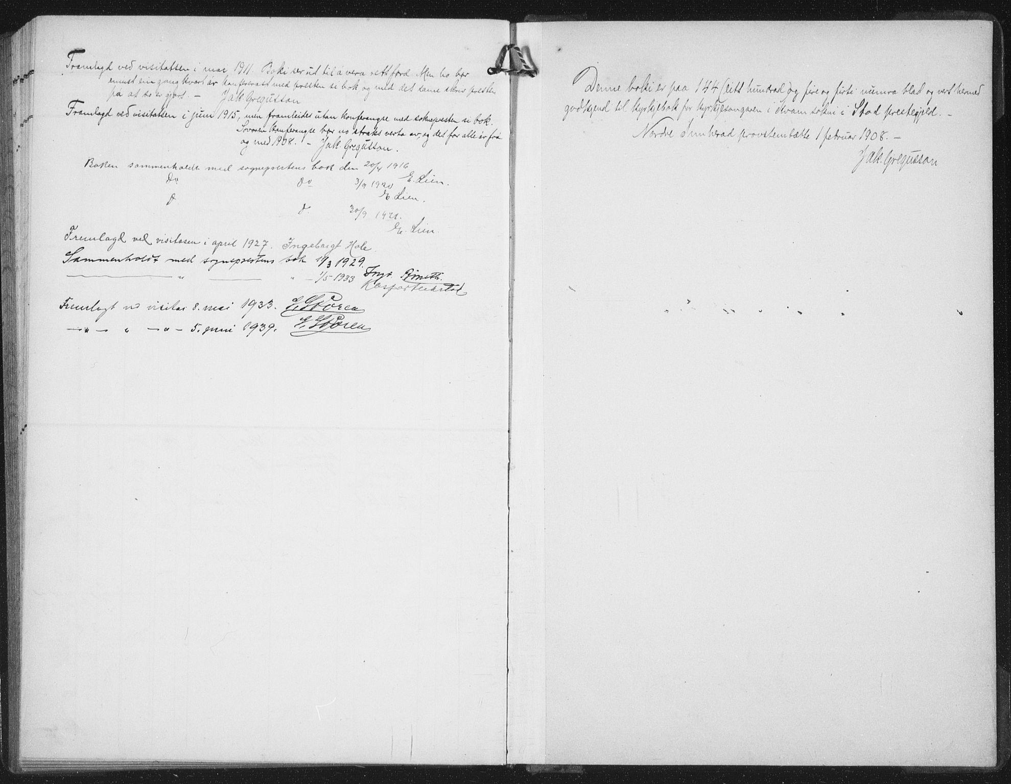 SAT, Ministerialprotokoller, klokkerbøker og fødselsregistre - Nord-Trøndelag, 747/L0460: Klokkerbok nr. 747C02, 1908-1939