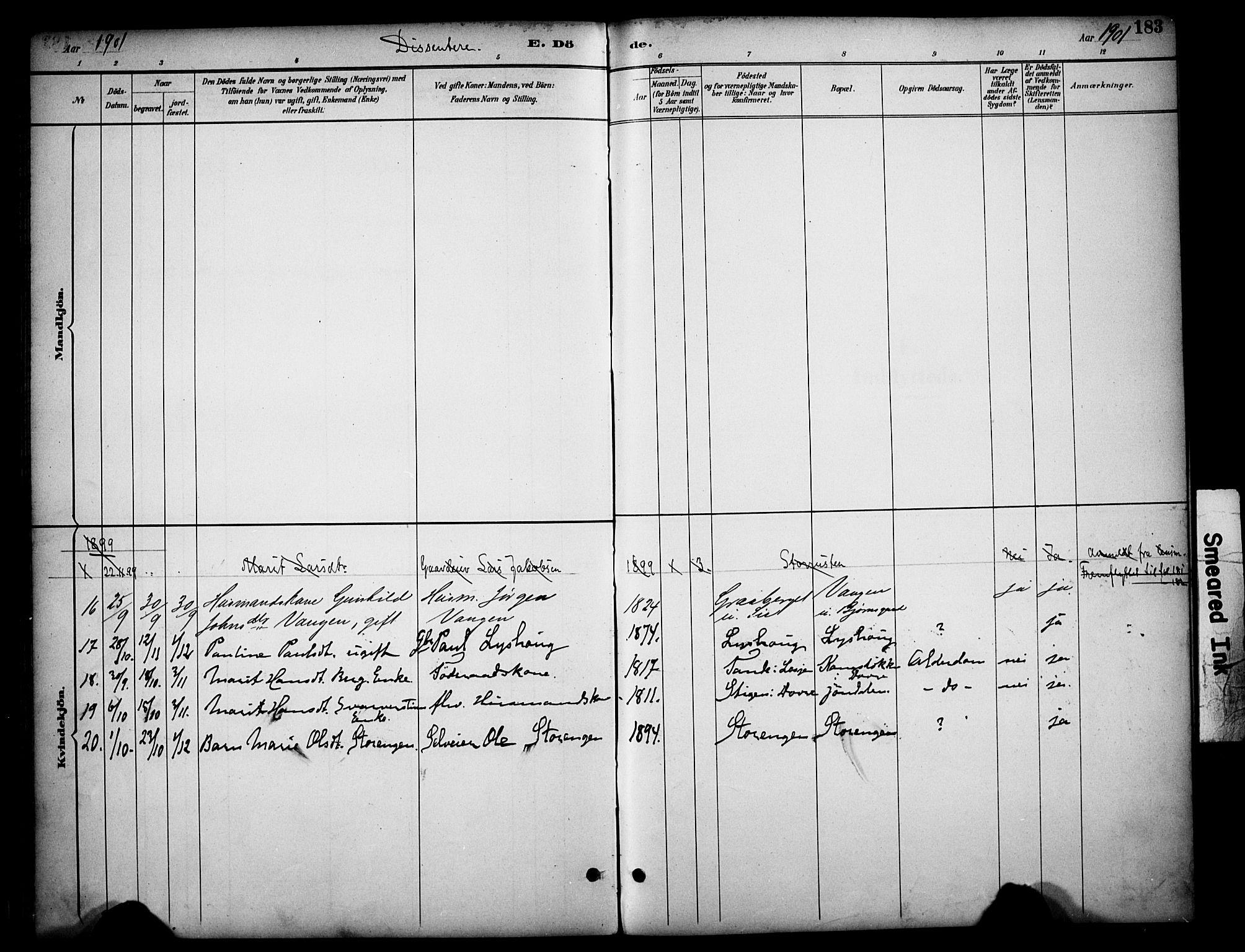 SAH, Dovre prestekontor, Ministerialbok nr. 3, 1891-1901, s. 183