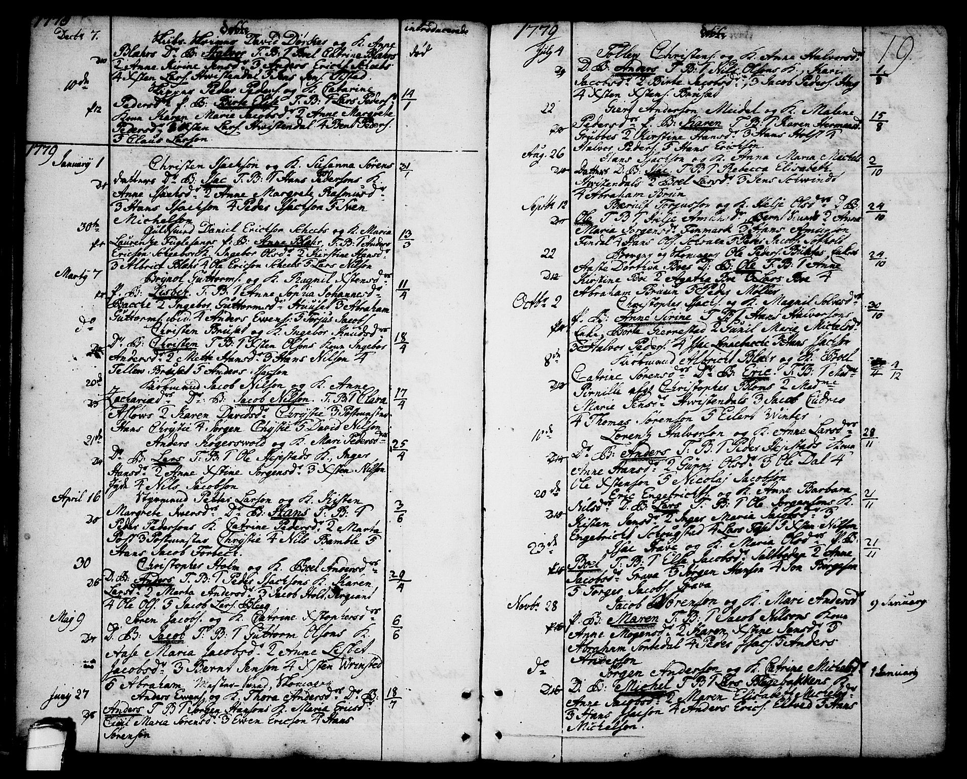 SAKO, Brevik kirkebøker, F/Fa/L0003: Ministerialbok nr. 3, 1764-1814, s. 19