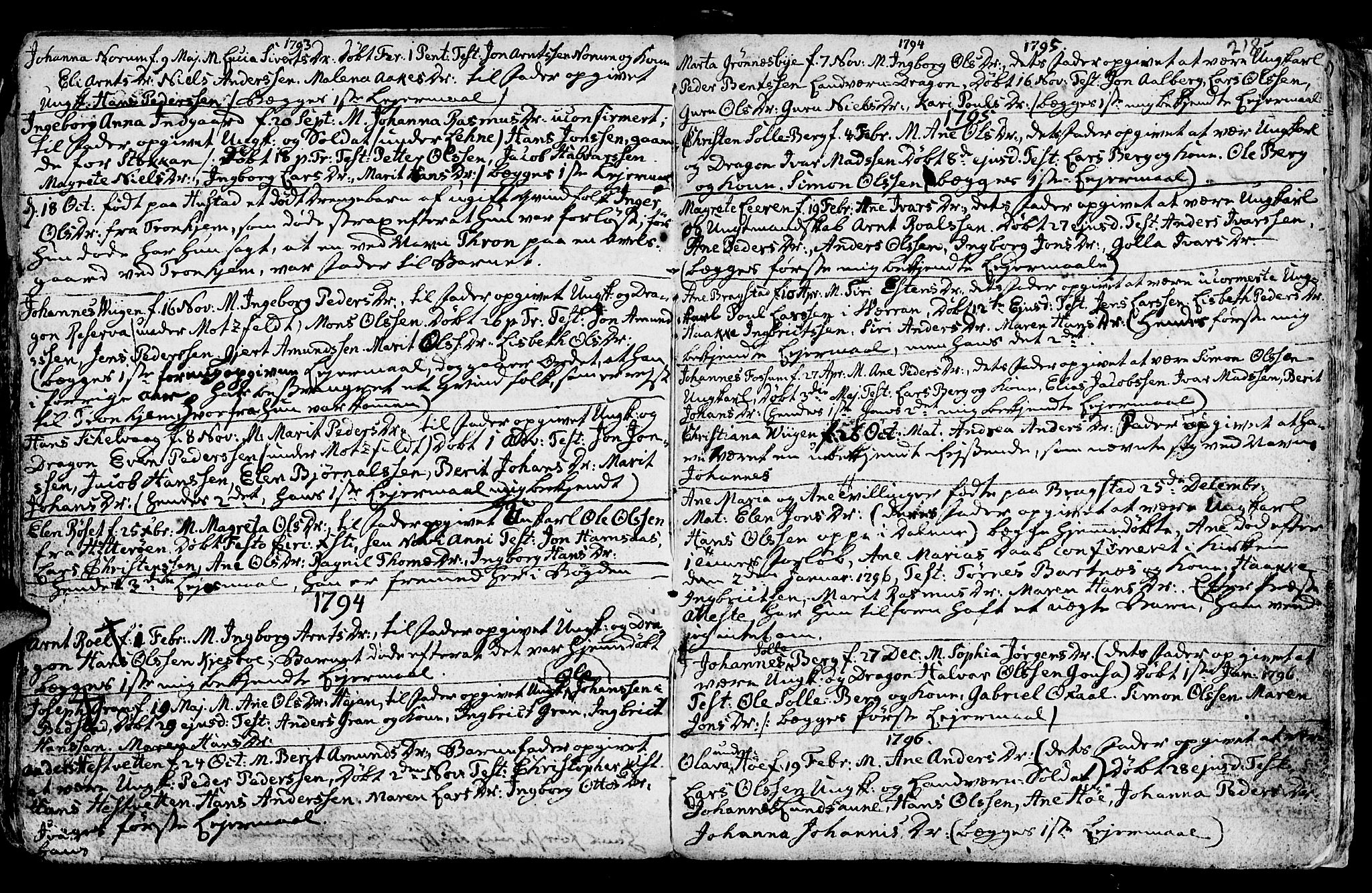 SAT, Ministerialprotokoller, klokkerbøker og fødselsregistre - Nord-Trøndelag, 730/L0273: Ministerialbok nr. 730A02, 1762-1802, s. 218
