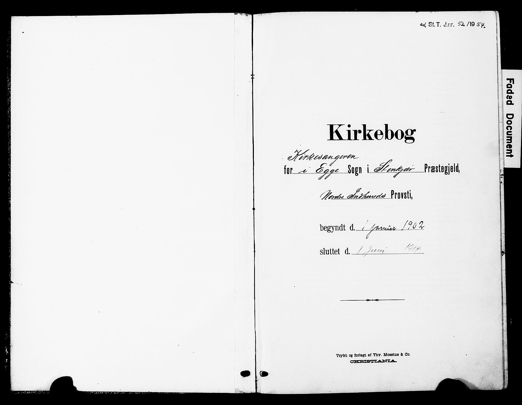 SAT, Ministerialprotokoller, klokkerbøker og fødselsregistre - Nord-Trøndelag, 740/L0381: Klokkerbok nr. 740C02, 1903-1914
