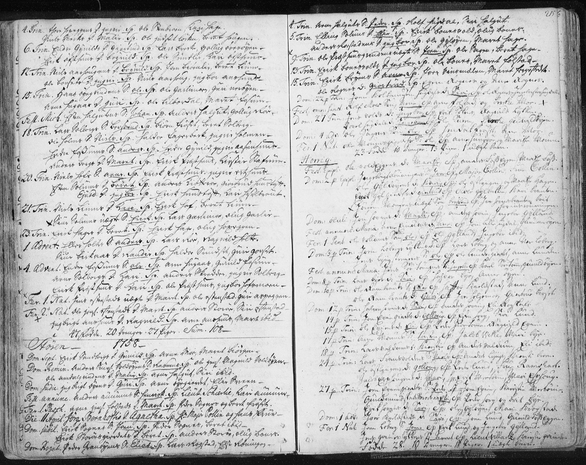 SAT, Ministerialprotokoller, klokkerbøker og fødselsregistre - Sør-Trøndelag, 687/L0991: Ministerialbok nr. 687A02, 1747-1790, s. 215