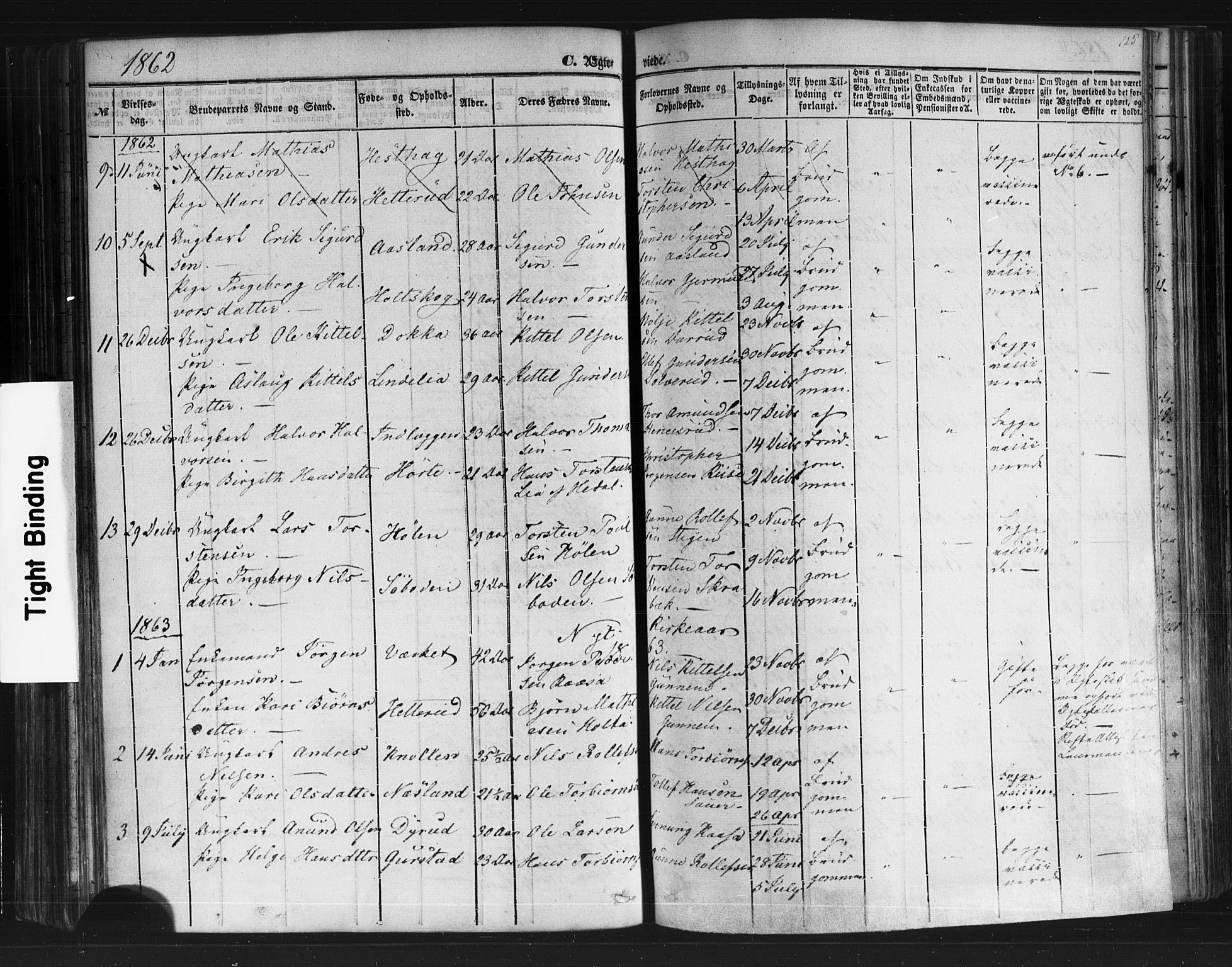 SAKO, Sauherad kirkebøker, F/Fb/L0001: Ministerialbok nr. II 1, 1851-1877, s. 125