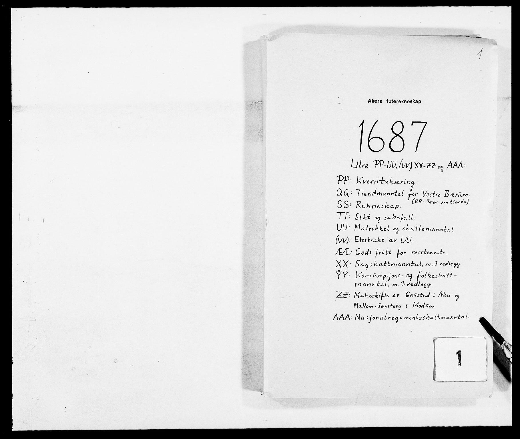 RA, Rentekammeret inntil 1814, Reviderte regnskaper, Fogderegnskap, R08/L0422: Fogderegnskap Aker, 1684-1686, s. 131