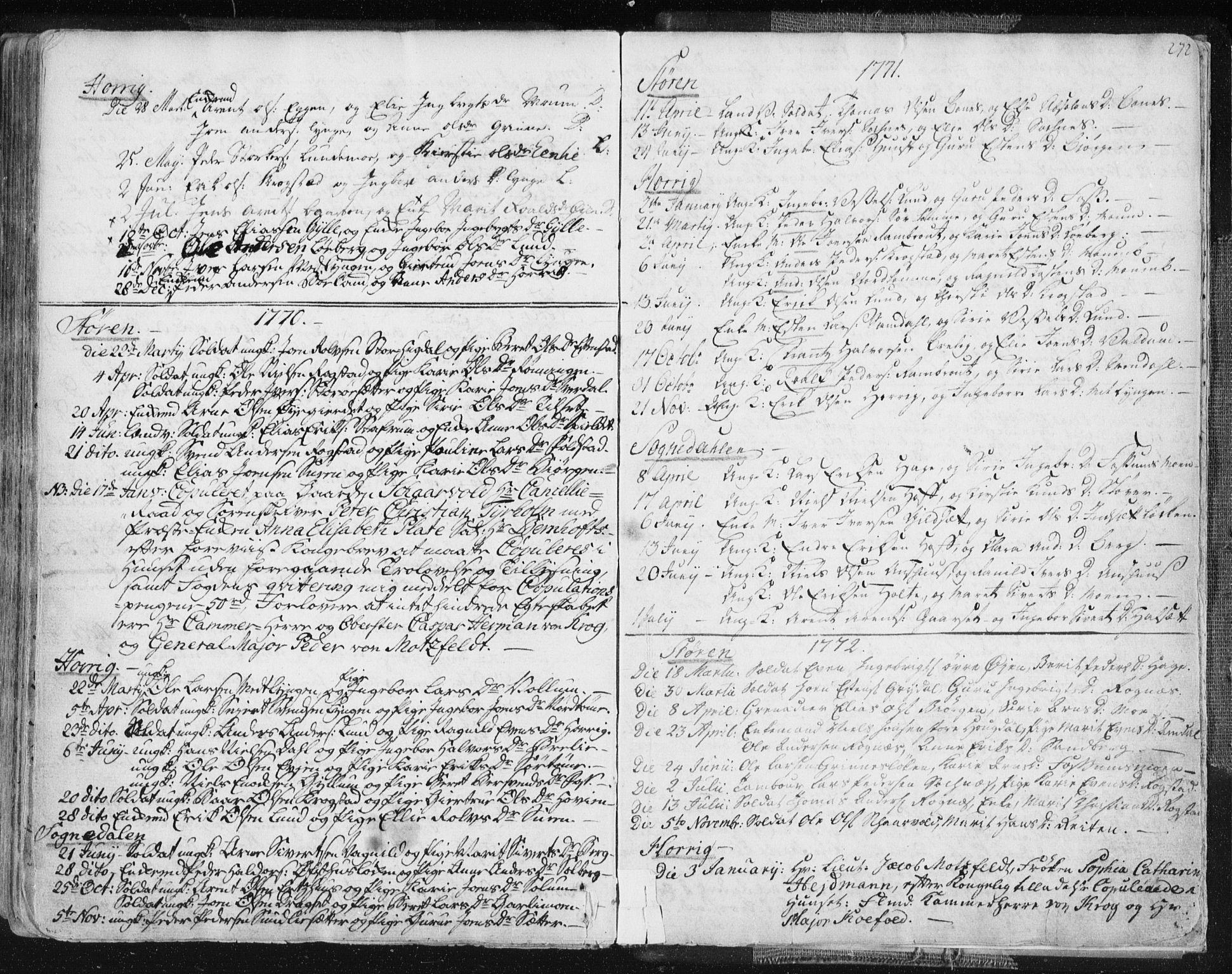 SAT, Ministerialprotokoller, klokkerbøker og fødselsregistre - Sør-Trøndelag, 687/L0991: Ministerialbok nr. 687A02, 1747-1790, s. 272