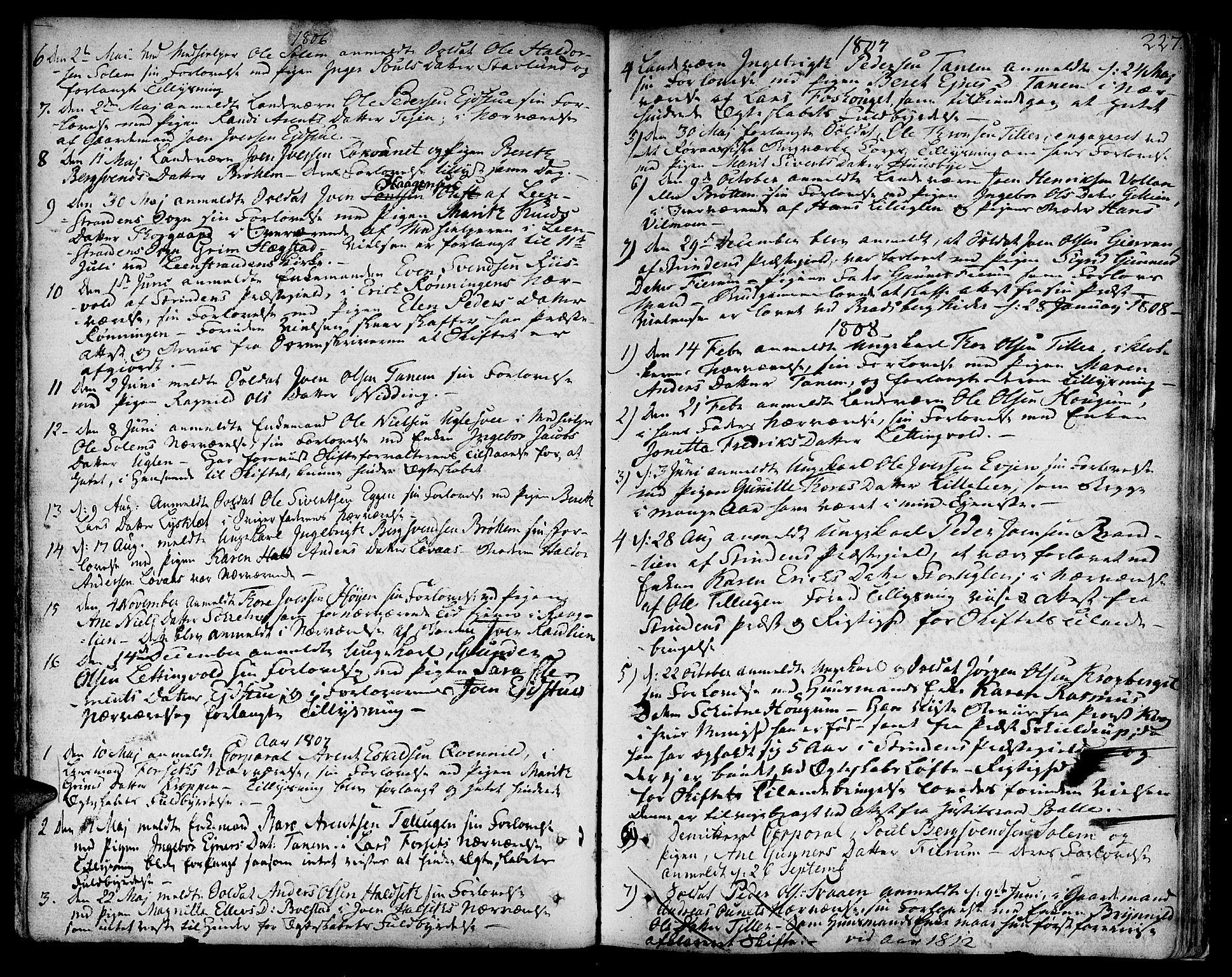 SAT, Ministerialprotokoller, klokkerbøker og fødselsregistre - Sør-Trøndelag, 618/L0438: Ministerialbok nr. 618A03, 1783-1815, s. 227