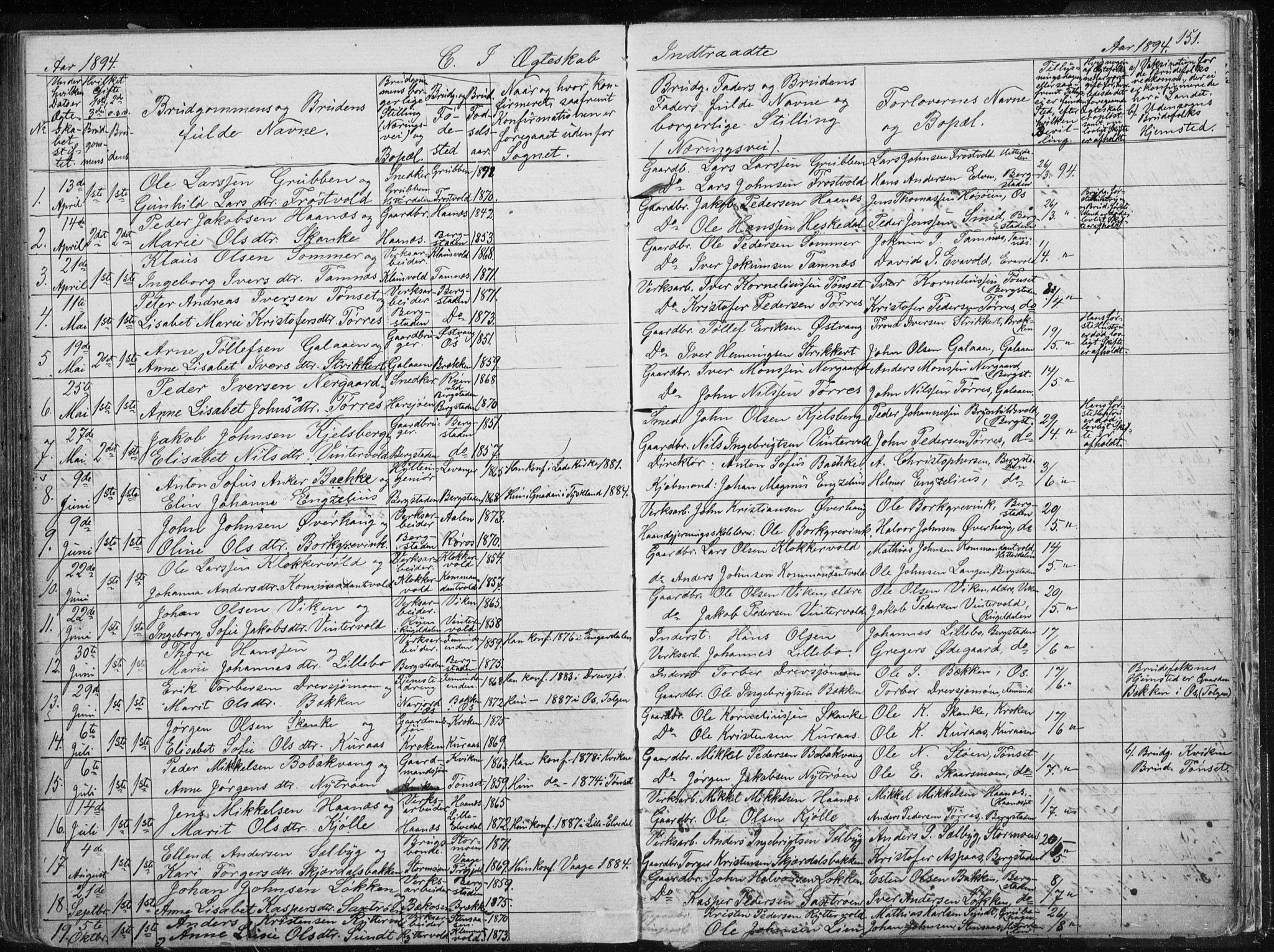 SAT, Ministerialprotokoller, klokkerbøker og fødselsregistre - Sør-Trøndelag, 681/L0940: Klokkerbok nr. 681C04, 1880-1895, s. 151