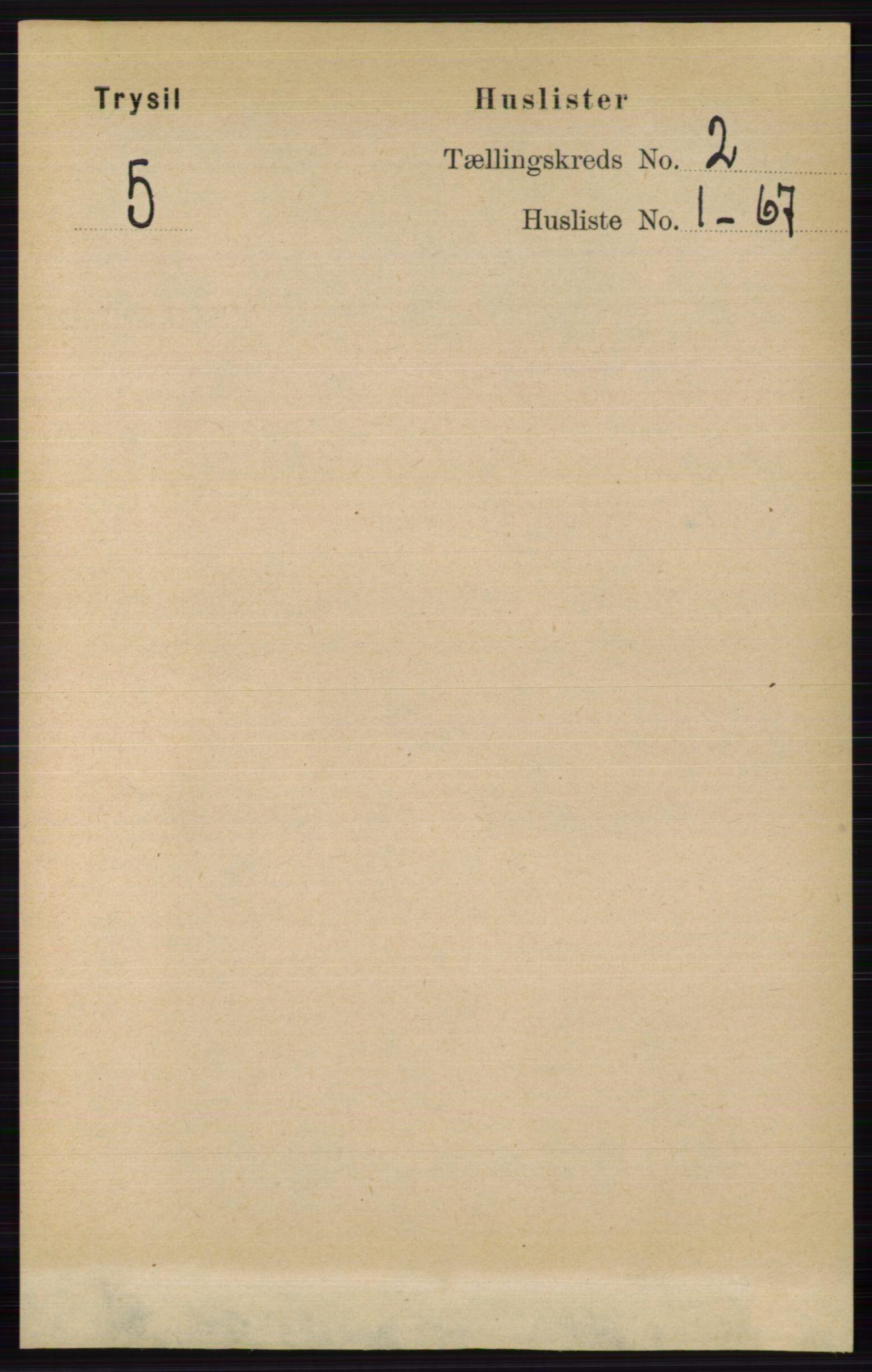 RA, Folketelling 1891 for 0428 Trysil herred, 1891, s. 654