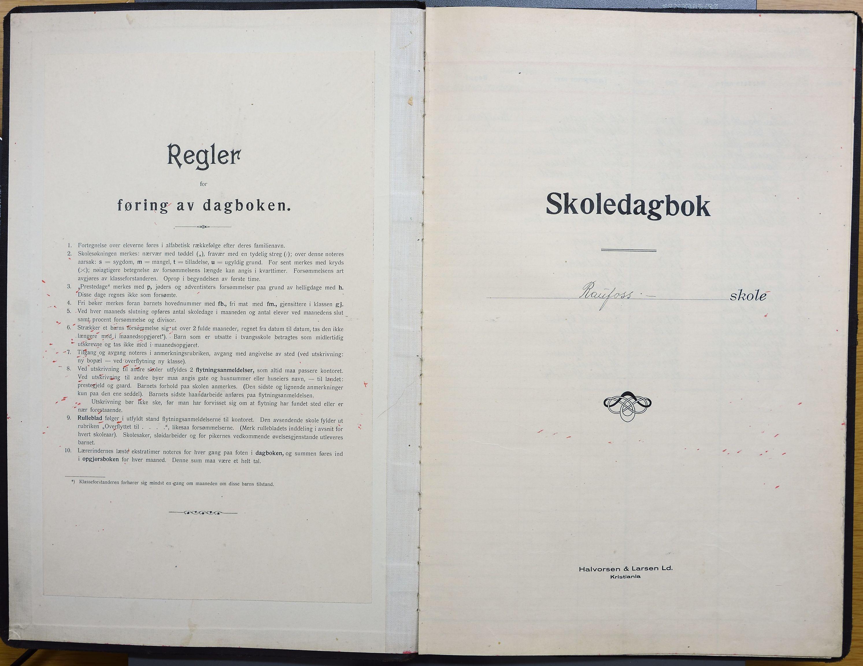 KVT, Vestre Toten kommunearkiv: Raufoss Skole i Vestre Toten kommune. Elevprotokoll 1923-29 for 6., 7., 1., 2. og 3. klasse, 1923-1929