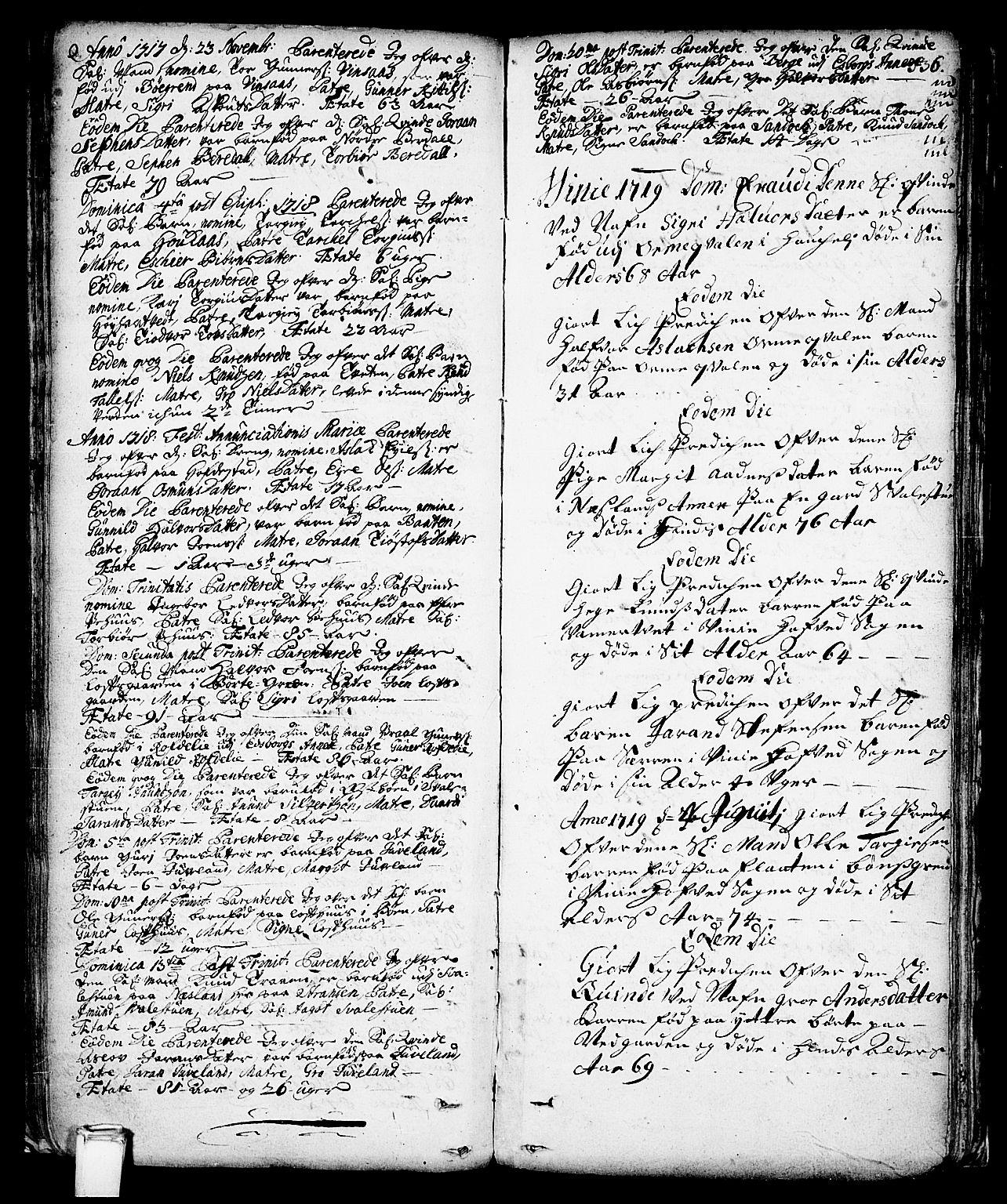 SAKO, Vinje kirkebøker, F/Fa/L0001: Ministerialbok nr. I 1, 1717-1766, s. 136