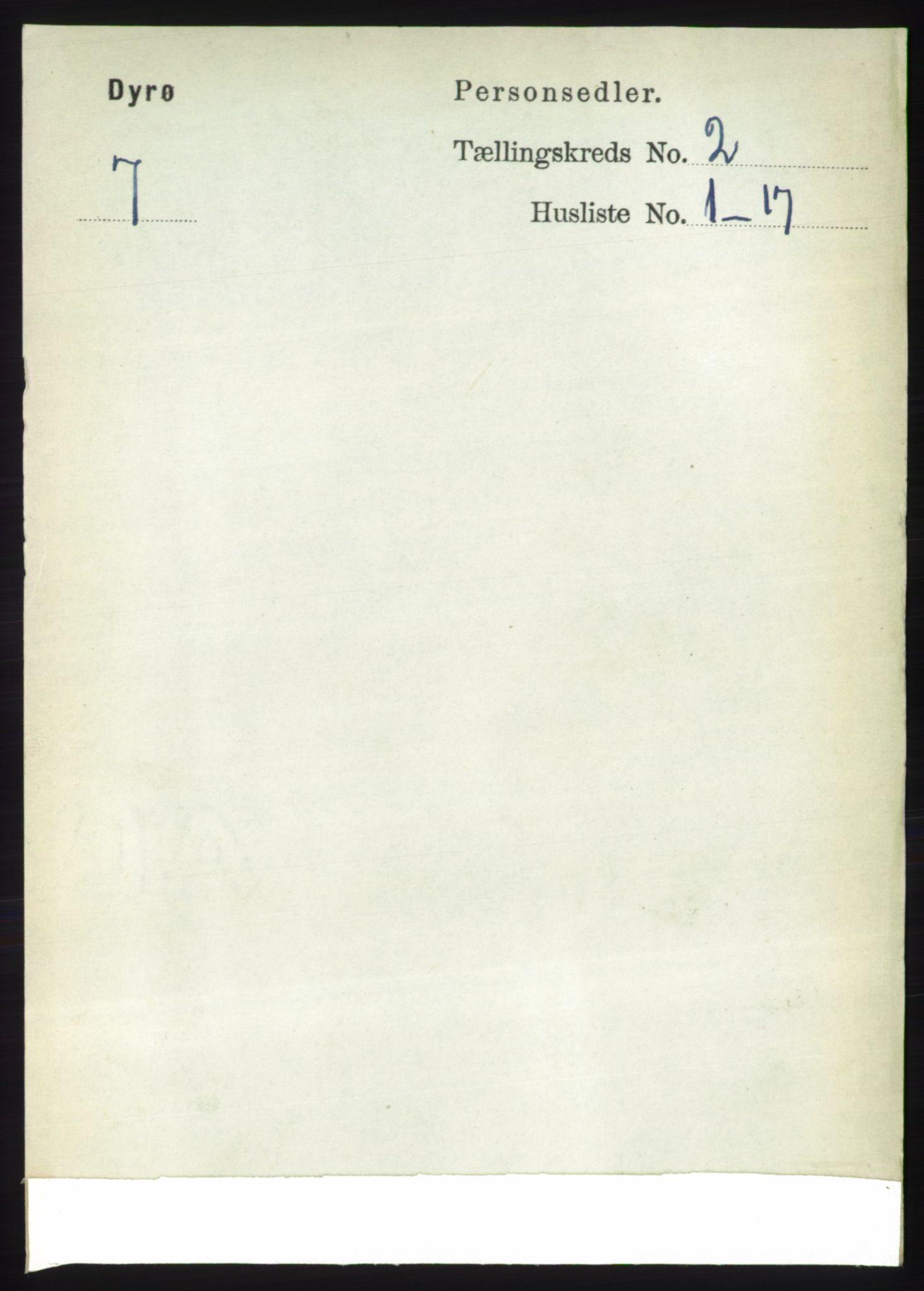 RA, Folketelling 1891 for 1926 Dyrøy herred, 1891, s. 532