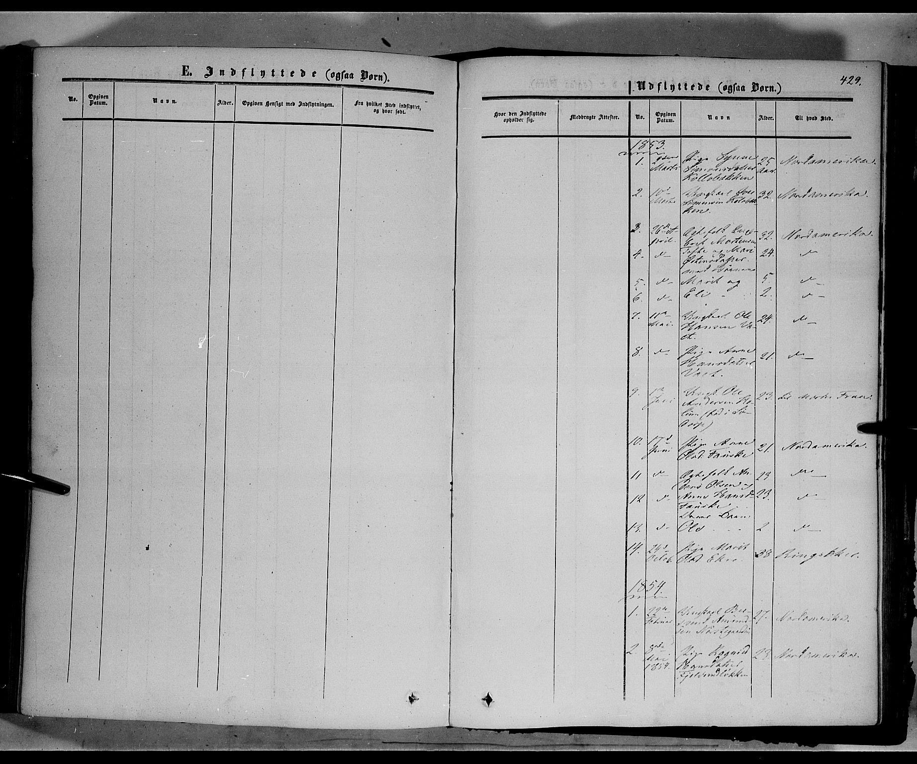 SAH, Sør-Fron prestekontor, H/Ha/Haa/L0001: Ministerialbok nr. 1, 1849-1863, s. 429
