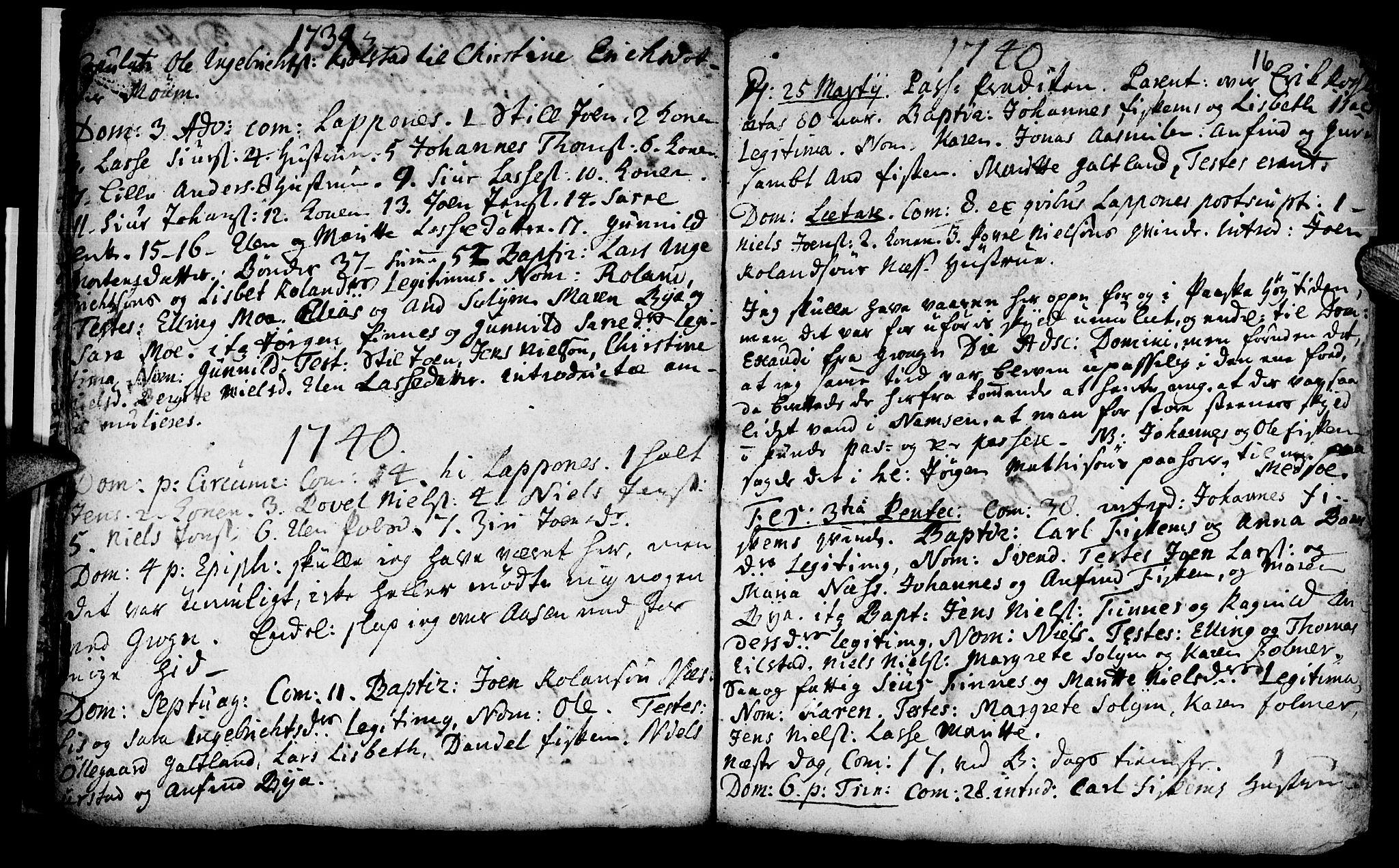 SAT, Ministerialprotokoller, klokkerbøker og fødselsregistre - Nord-Trøndelag, 759/L0525: Ministerialbok nr. 759A01, 1706-1748, s. 16