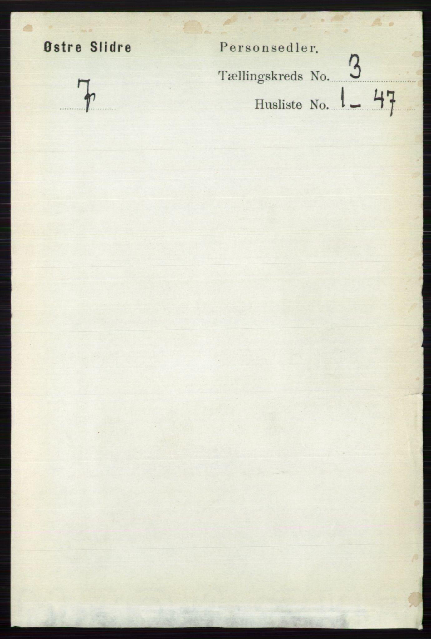 RA, Folketelling 1891 for 0544 Øystre Slidre herred, 1891, s. 598