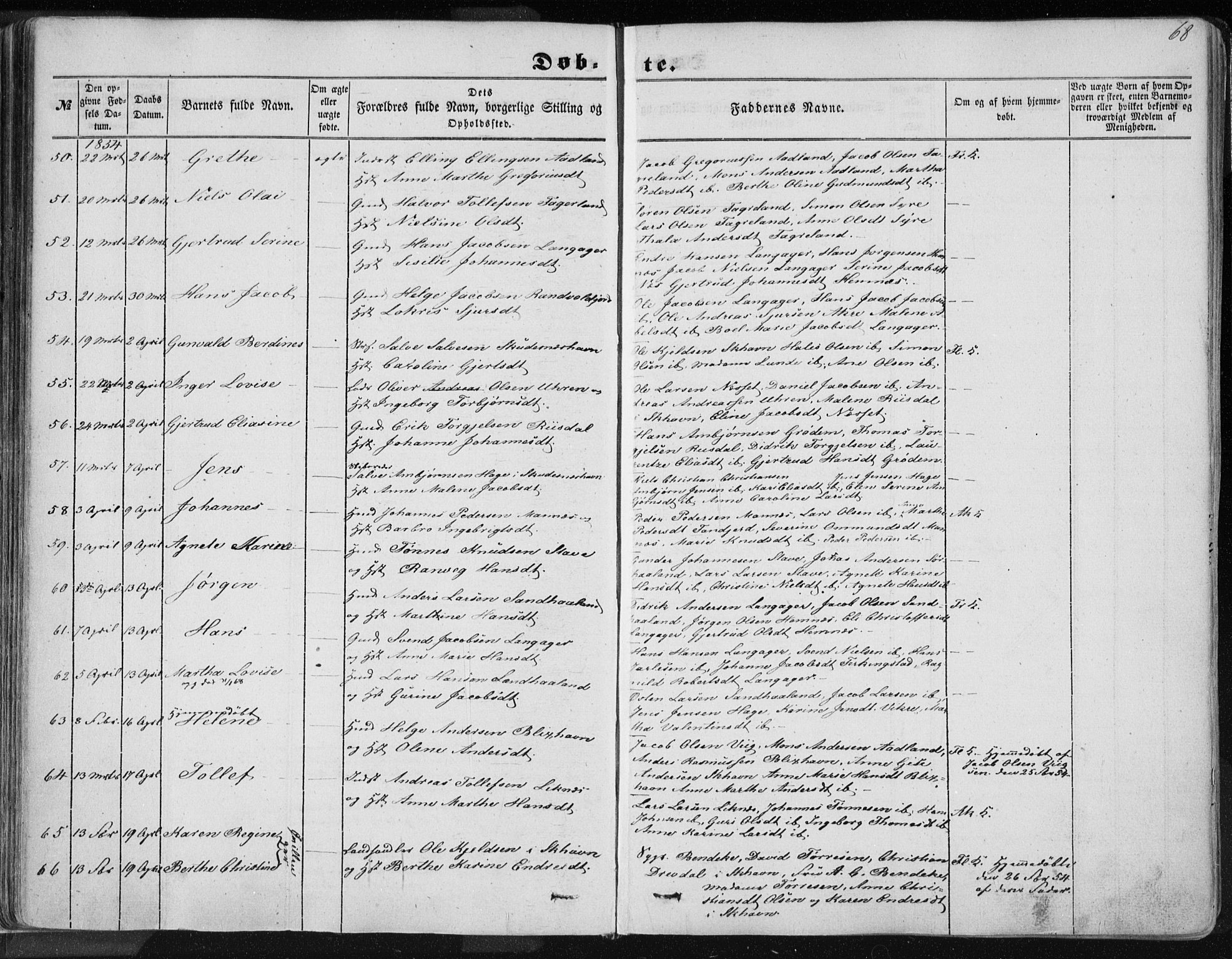 SAST, Skudenes sokneprestkontor, H/Ha/Haa/L0004: Ministerialbok nr. A 3.1, 1847-1863, s. 68