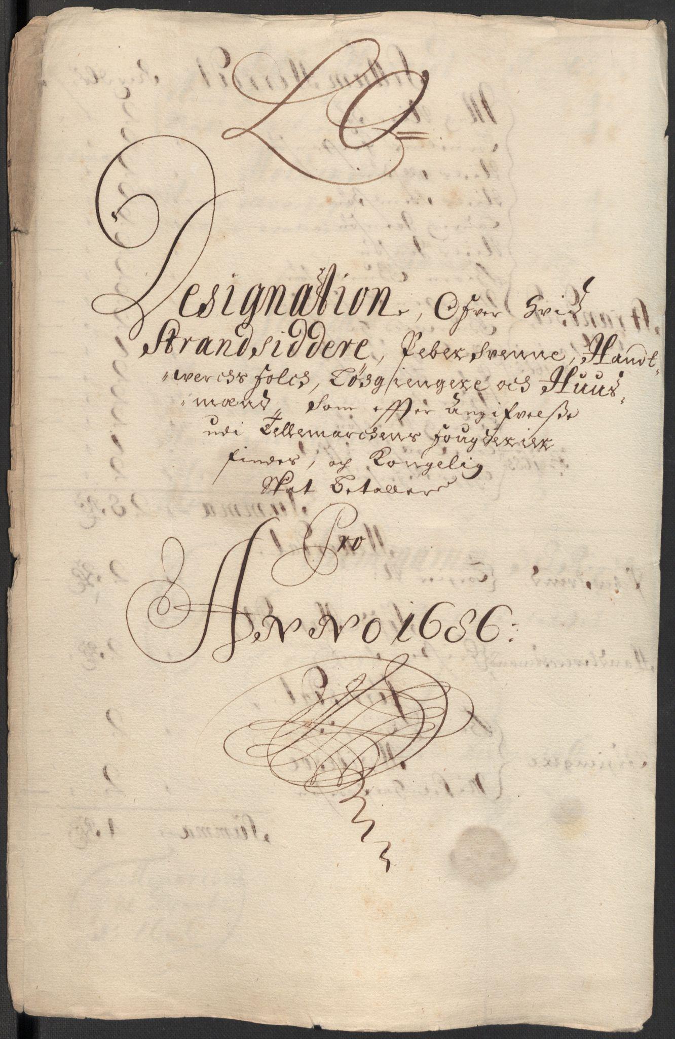 RA, Rentekammeret inntil 1814, Reviderte regnskaper, Fogderegnskap, R35/L2083: Fogderegnskap Øvre og Nedre Telemark, 1686, s. 319
