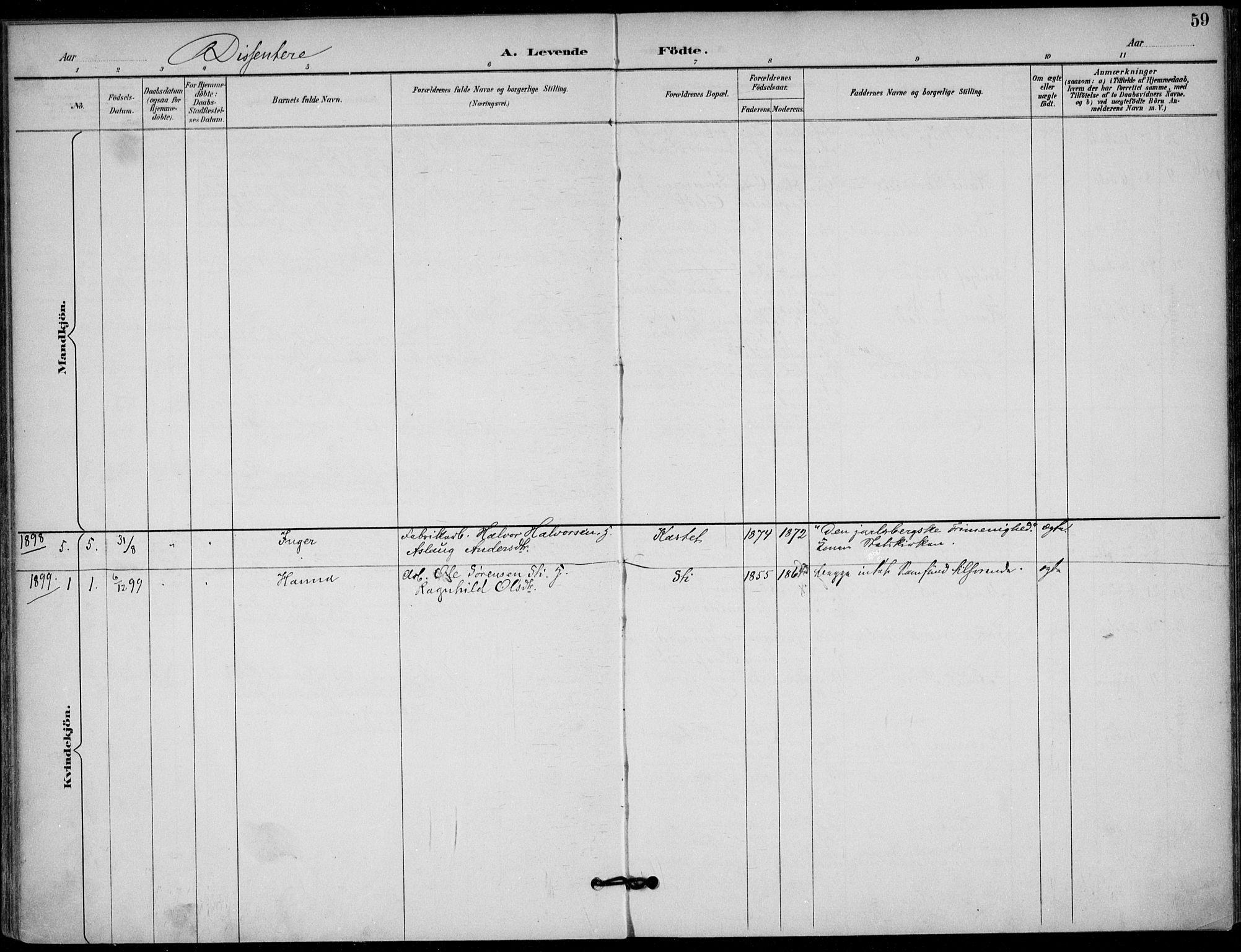 SAKO, Solum kirkebøker, F/Fb/L0002: Ministerialbok nr. II 2, 1893-1901, s. 59