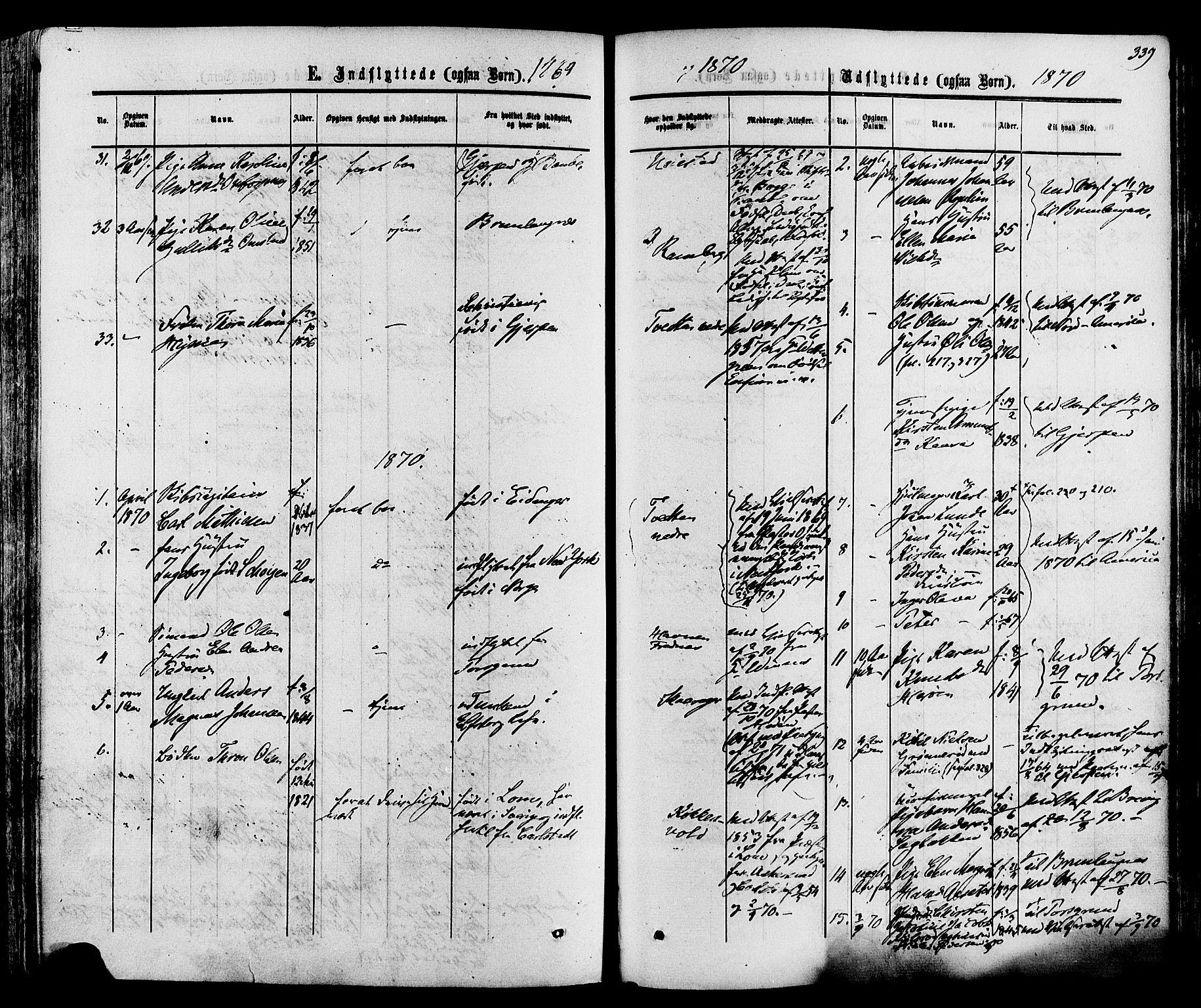 SAKO, Eidanger kirkebøker, F/Fa/L0010: Ministerialbok nr. 10, 1859-1874, s. 339