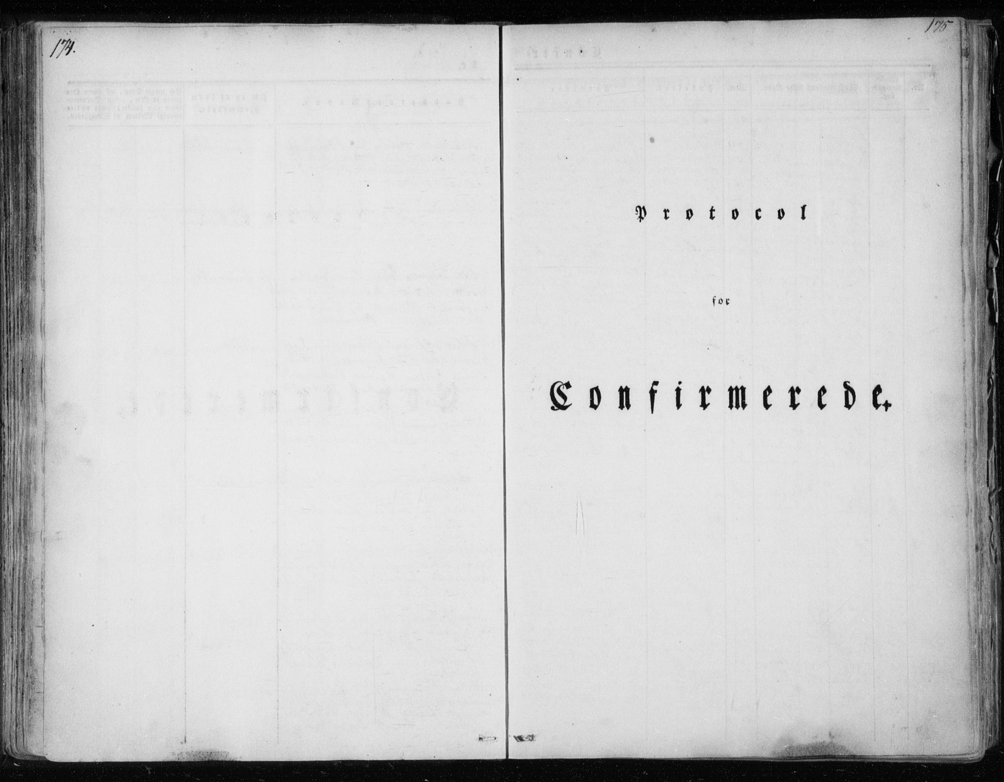 SAT, Ministerialprotokoller, klokkerbøker og fødselsregistre - Nordland, 825/L0354: Ministerialbok nr. 825A08, 1826-1841, s. 174-175