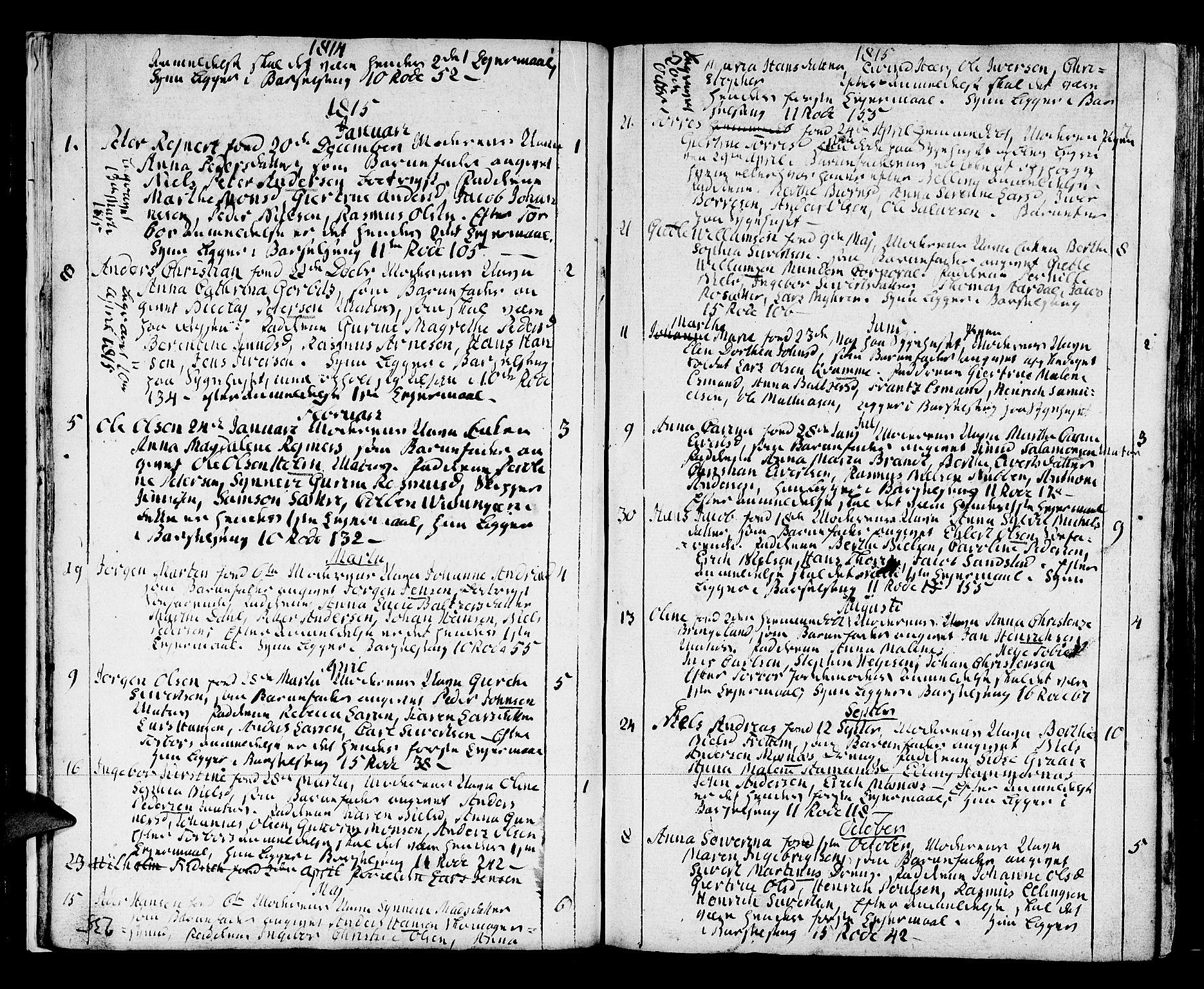 SAB, Domkirken Sokneprestembete, H/Haa/L0005: Ministerialbok nr. A 5, 1808-1820, s. 234-235