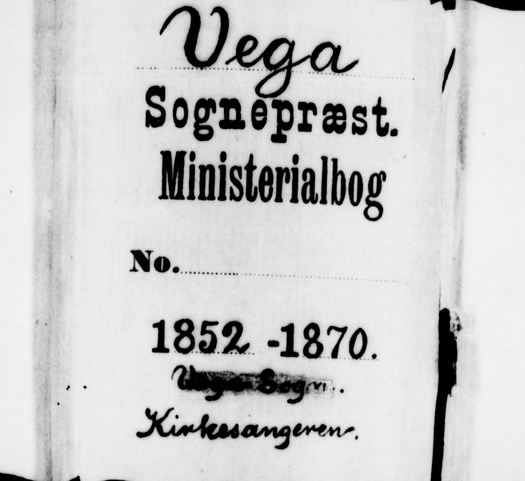 SAT, Ministerialprotokoller, klokkerbøker og fødselsregistre - Nordland, 816/L0251: Klokkerbok nr. 816C01, 1852-1870