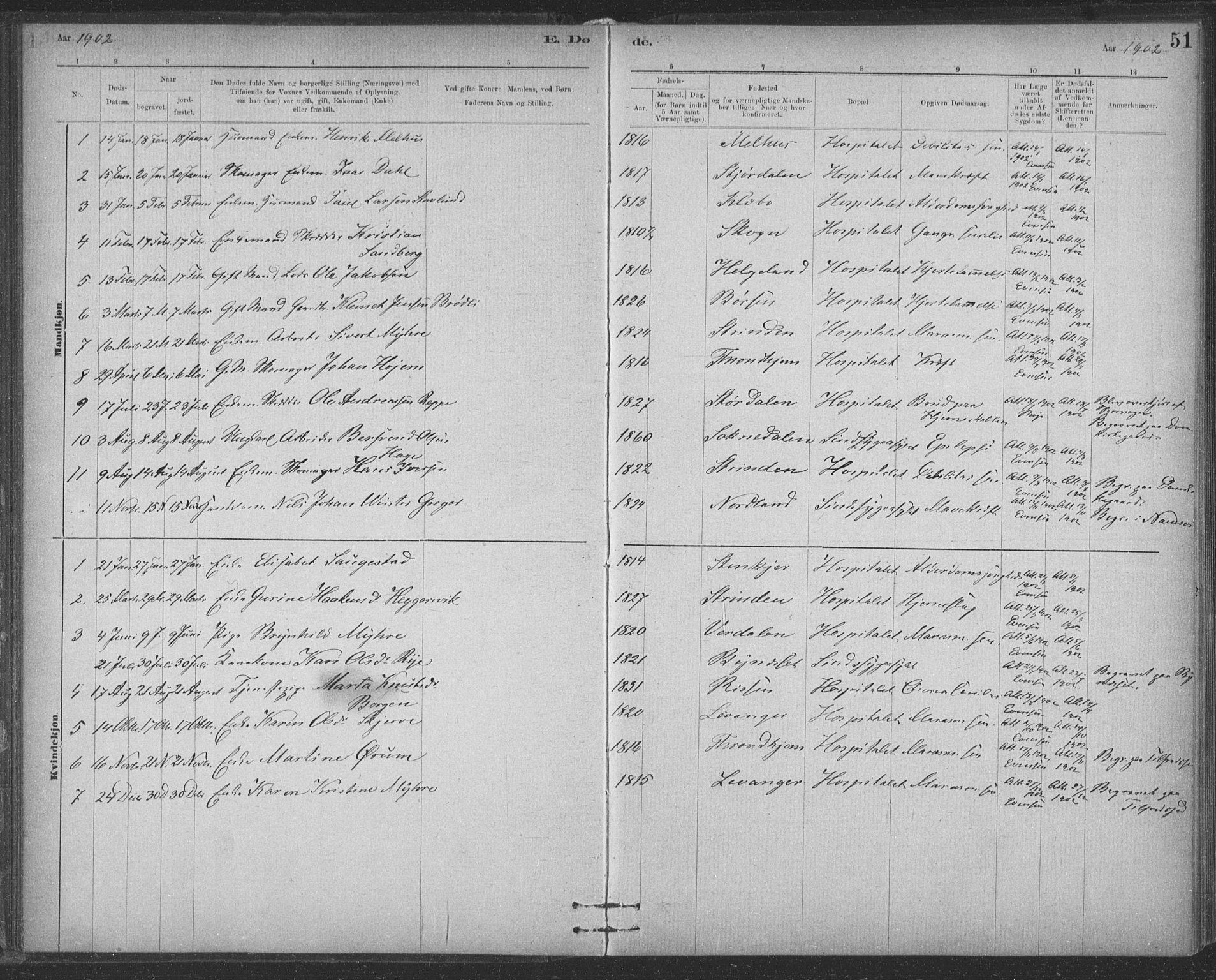 SAT, Ministerialprotokoller, klokkerbøker og fødselsregistre - Sør-Trøndelag, 623/L0470: Ministerialbok nr. 623A04, 1884-1938, s. 51