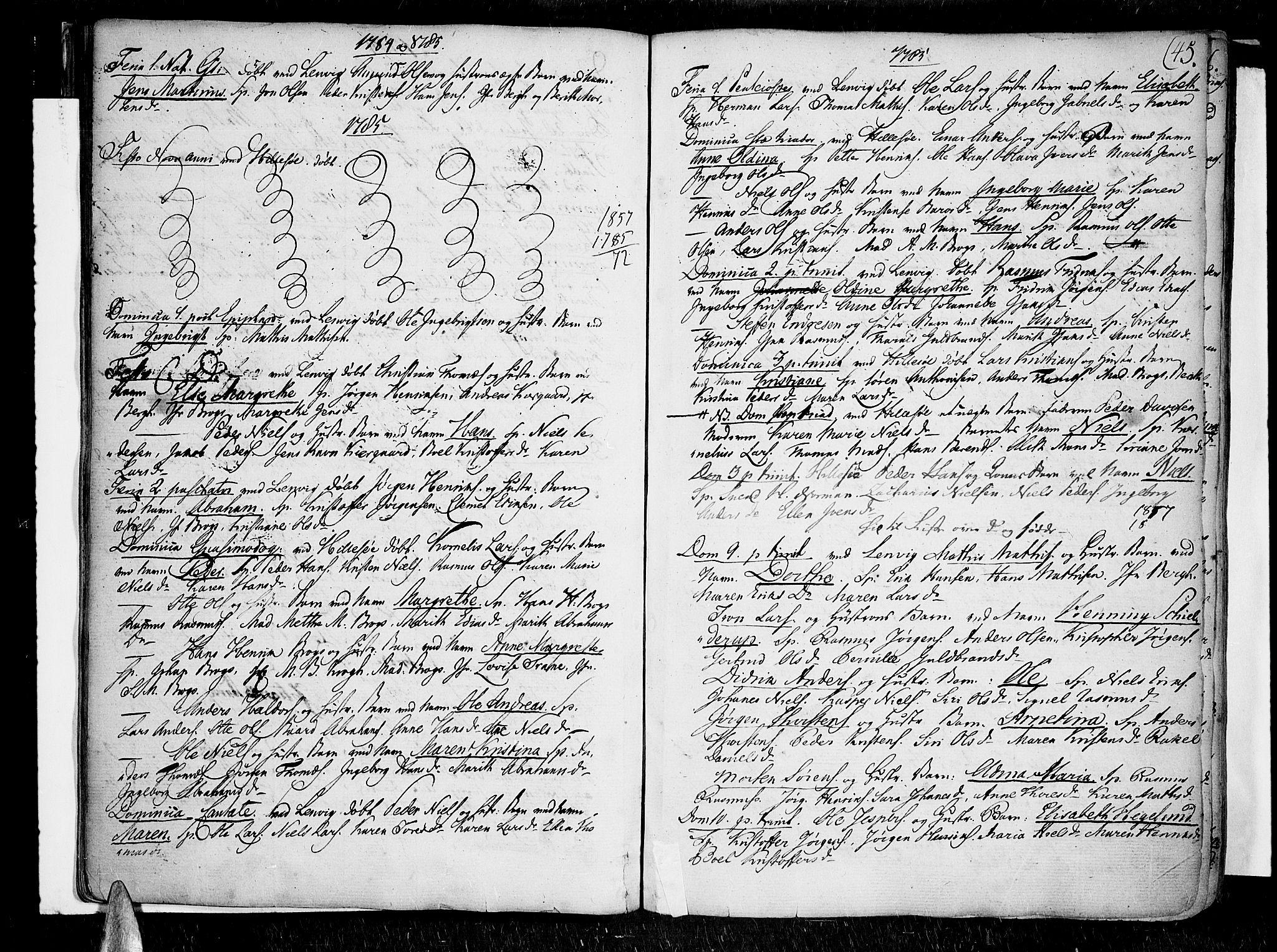 SATØ, Lenvik sokneprestembete, H/Ha/Haa/L0002kirke: Ministerialbok nr. 2, 1784-1820, s. 45