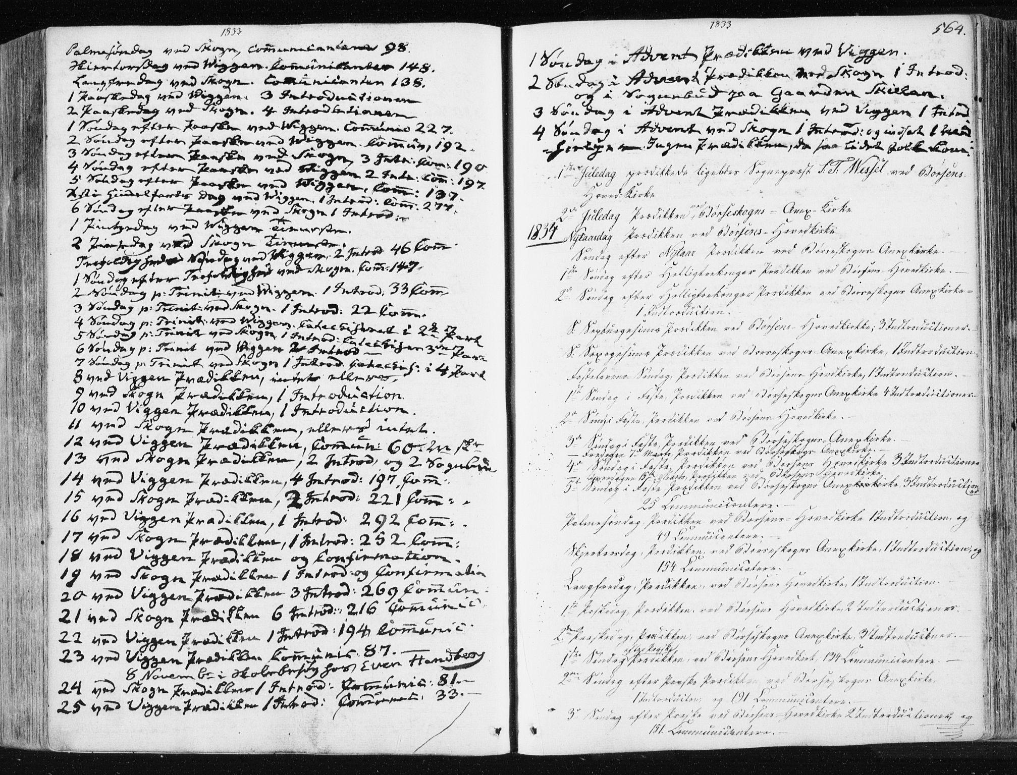 SAT, Ministerialprotokoller, klokkerbøker og fødselsregistre - Sør-Trøndelag, 665/L0771: Ministerialbok nr. 665A06, 1830-1856, s. 564