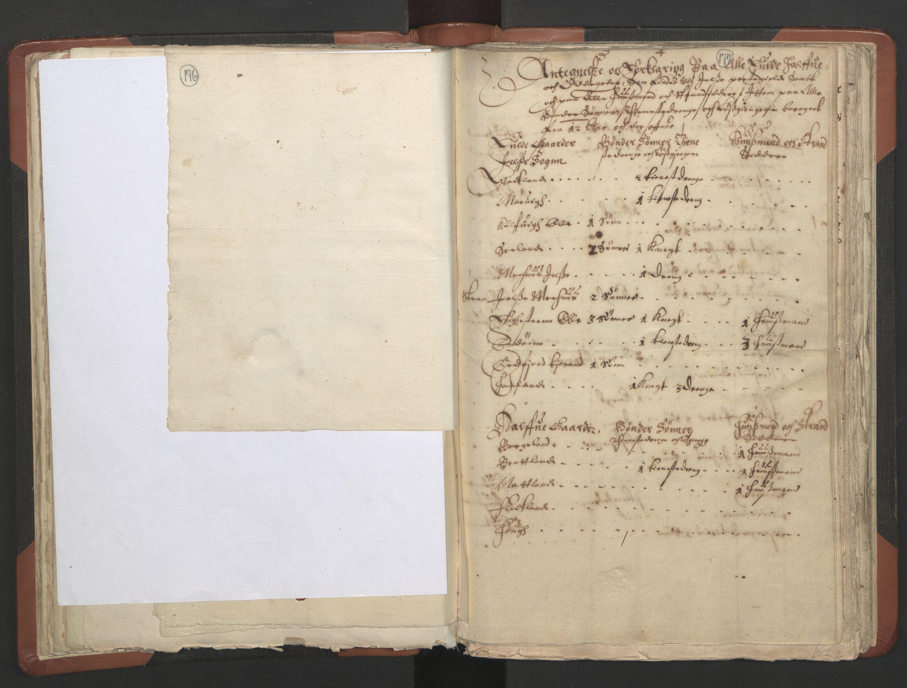 RA, Sogneprestenes manntall 1664-1666, nr. 19: Ryfylke prosti, 1664-1666, s. 176-177