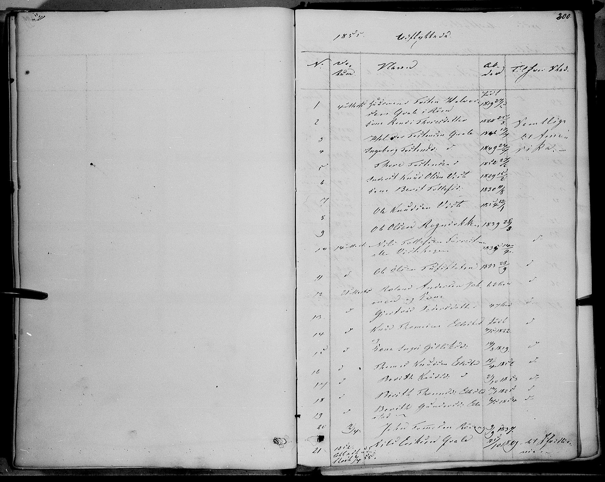 SAH, Vestre Slidre prestekontor, Ministerialbok nr. 1, 1844-1855, s. 300