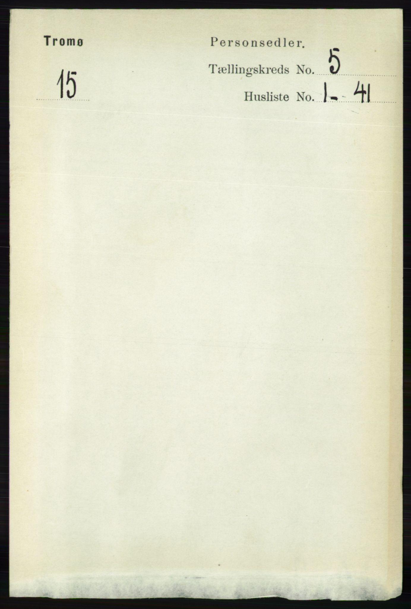 RA, Folketelling 1891 for 0921 Tromøy herred, 1891, s. 2191