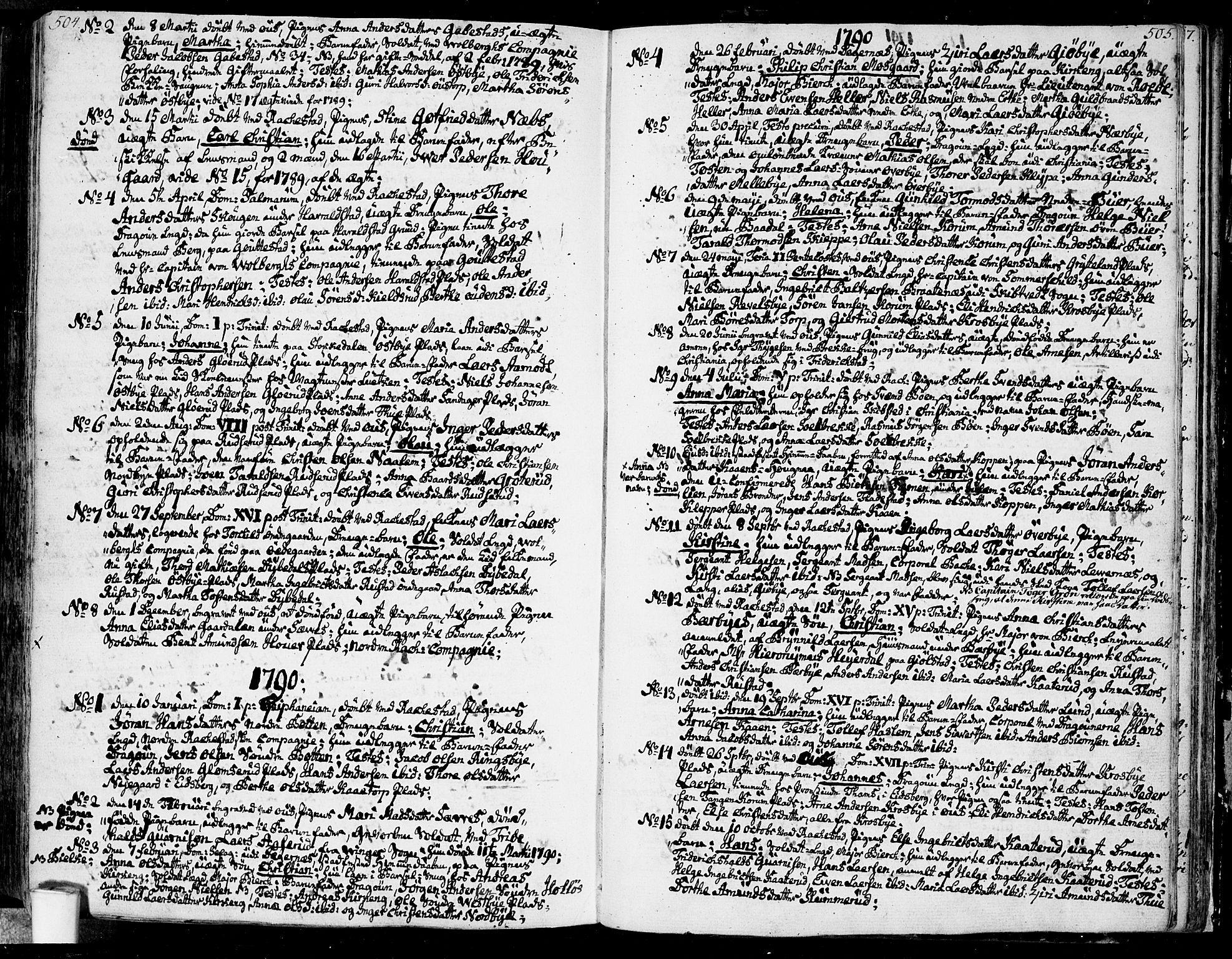 SAO, Rakkestad prestekontor Kirkebøker, F/Fa/L0005: Ministerialbok nr. I 5, 1784-1814, s. 504-505