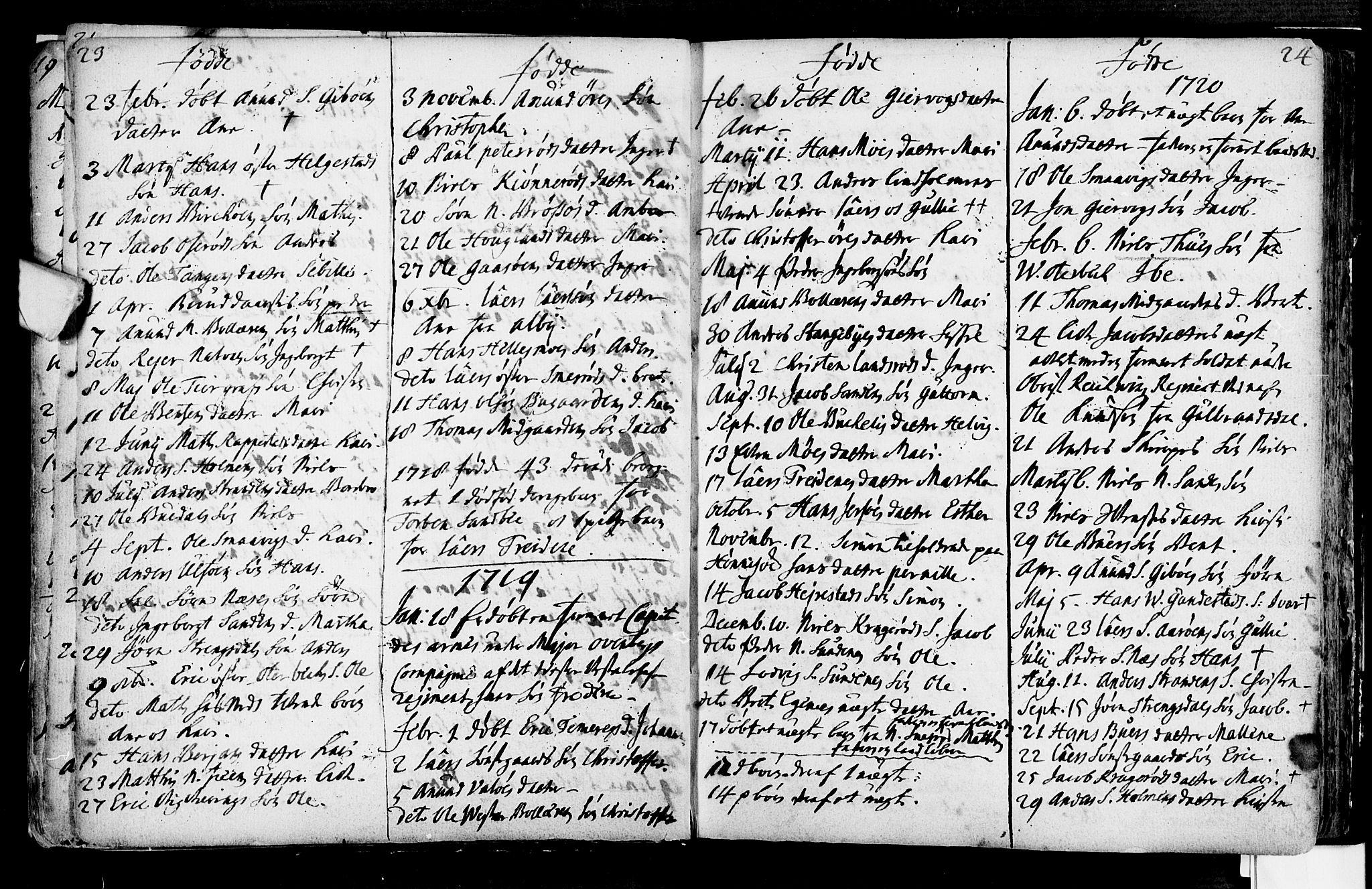 SAKO, Nøtterøy kirkebøker, F/Fa/L0001: Ministerialbok nr. I 1, 1686-1738, s. 23-24