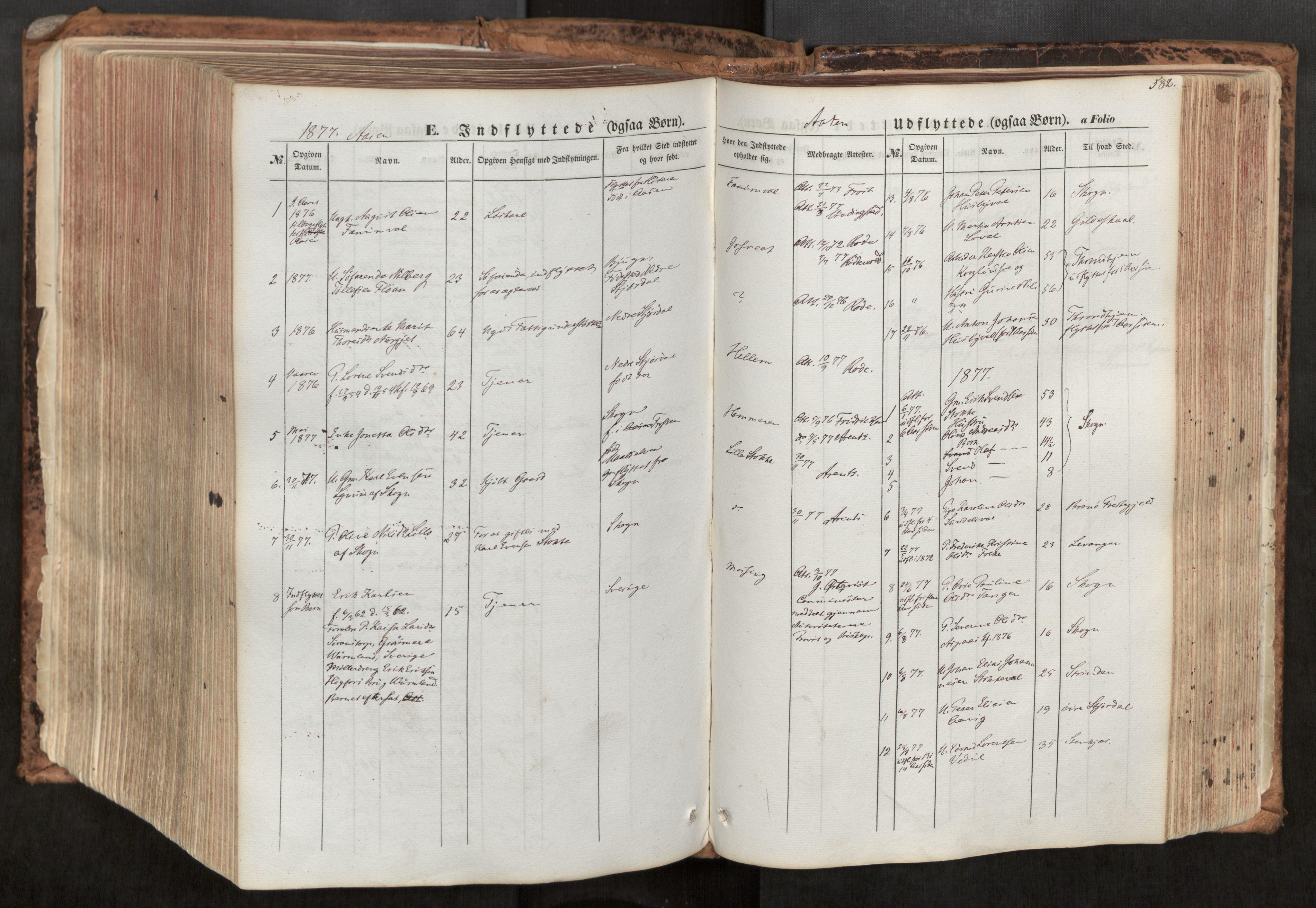 SAT, Ministerialprotokoller, klokkerbøker og fødselsregistre - Nord-Trøndelag, 713/L0116: Ministerialbok nr. 713A07, 1850-1877, s. 582