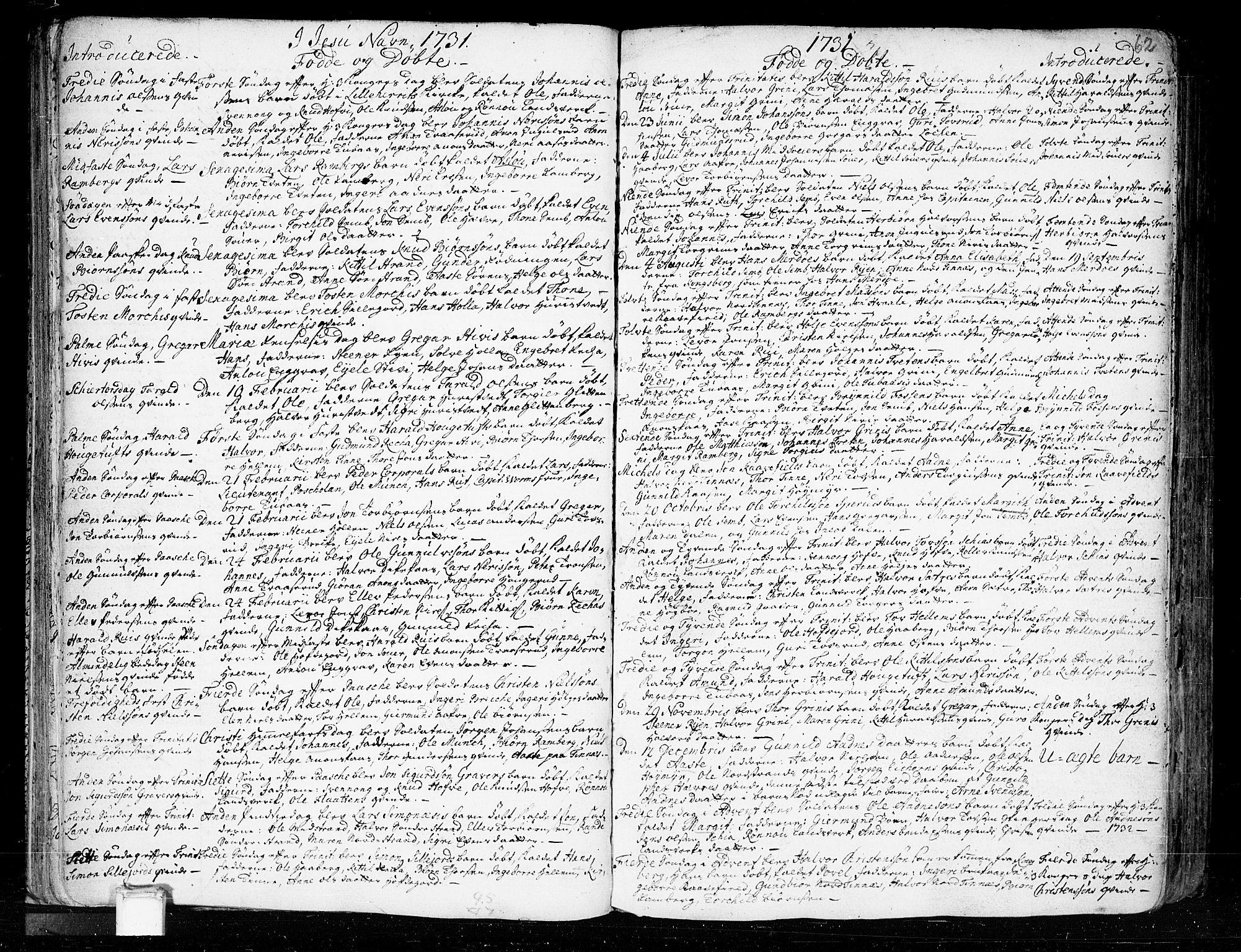 SAKO, Heddal kirkebøker, F/Fa/L0003: Ministerialbok nr. I 3, 1723-1783, s. 62