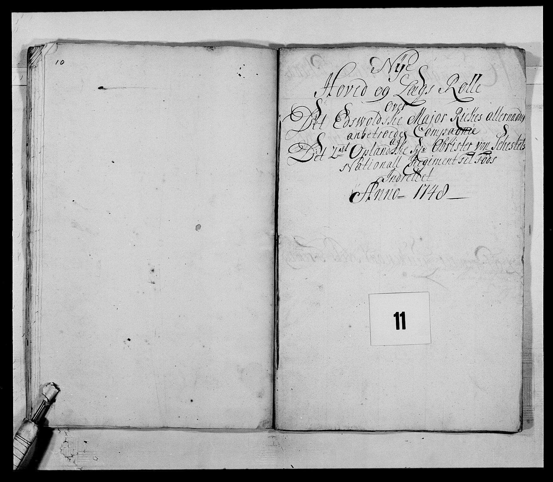 RA, Kommanderende general (KG I) med Det norske krigsdirektorium, E/Ea/L0505: 2. Opplandske regiment, 1748, s. 307