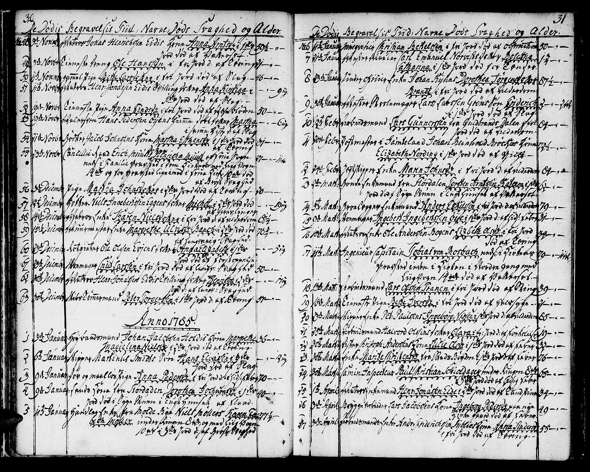 SAT, Ministerialprotokoller, klokkerbøker og fødselsregistre - Sør-Trøndelag, 602/L0106: Ministerialbok nr. 602A04, 1774-1814, s. 30-31