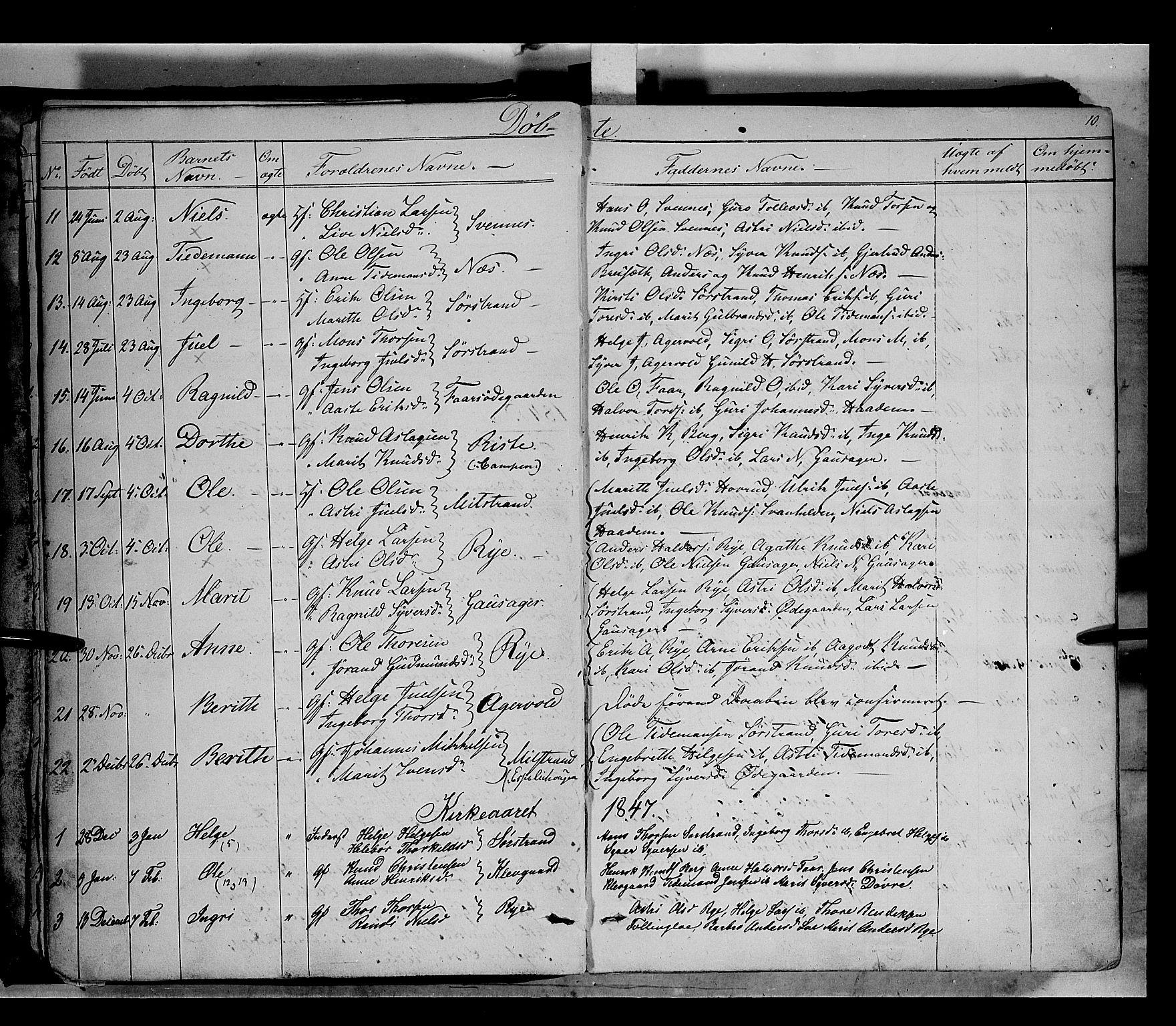SAH, Nord-Aurdal prestekontor, Ministerialbok nr. 5, 1842-1863, s. 10