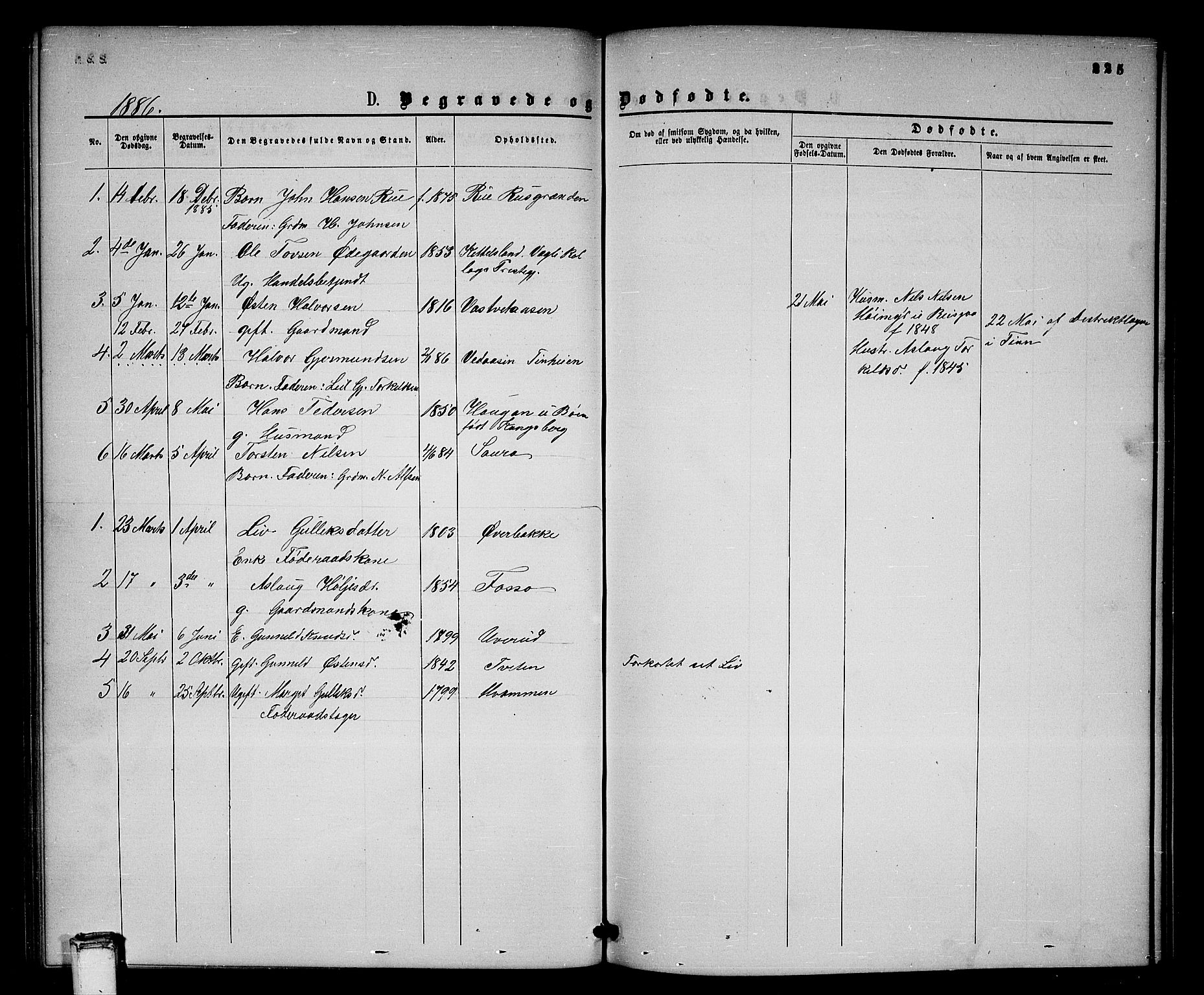 SAKO, Gransherad kirkebøker, G/Gb/L0002: Klokkerbok nr. II 2, 1860-1886, s. 225